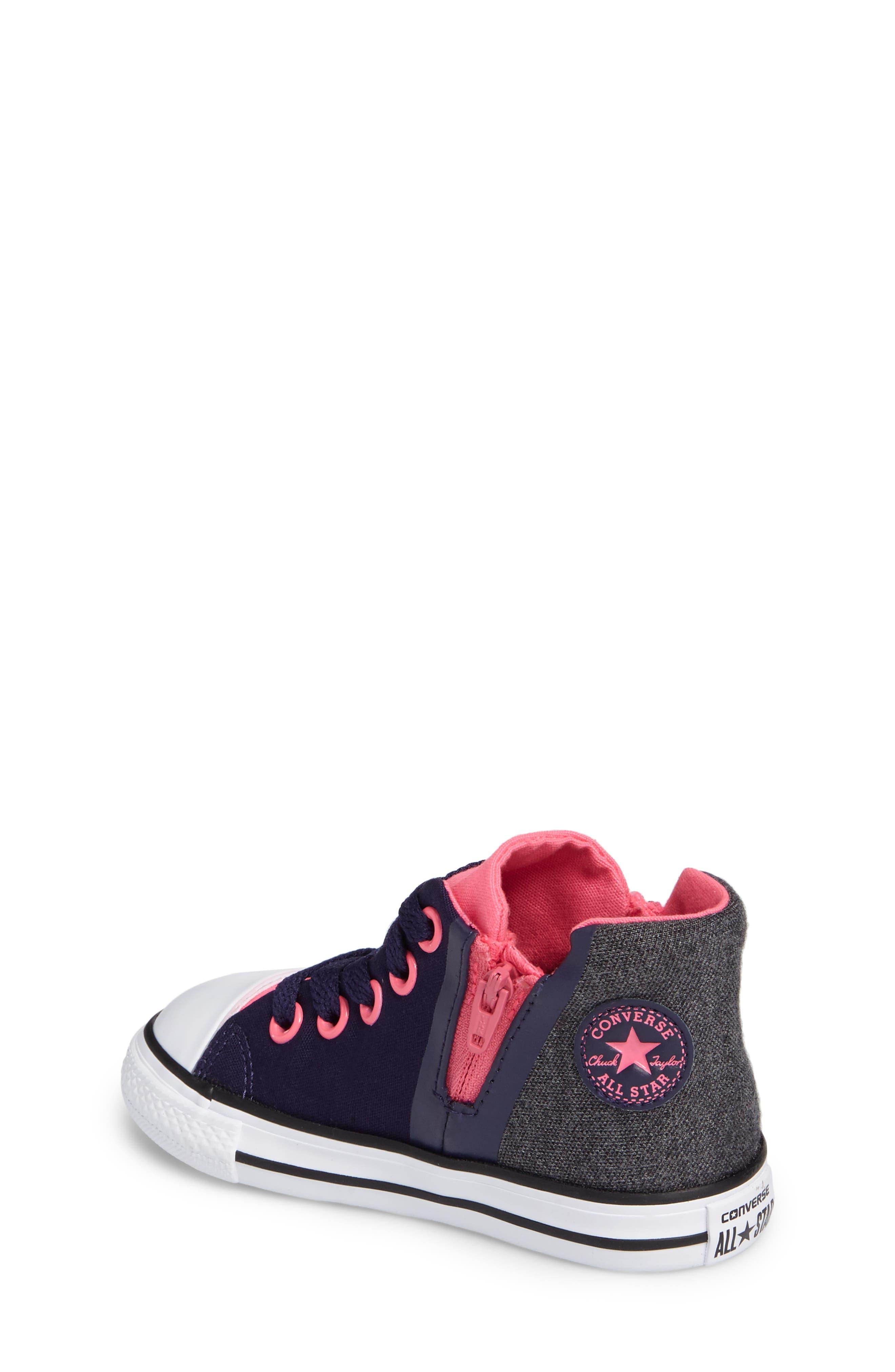 Alternate Image 2  - Converse Chuck Taylor® All Star® Sport Zip High Top Sneaker (Baby, Walker, Toddler, Little Kid & Big Kid)
