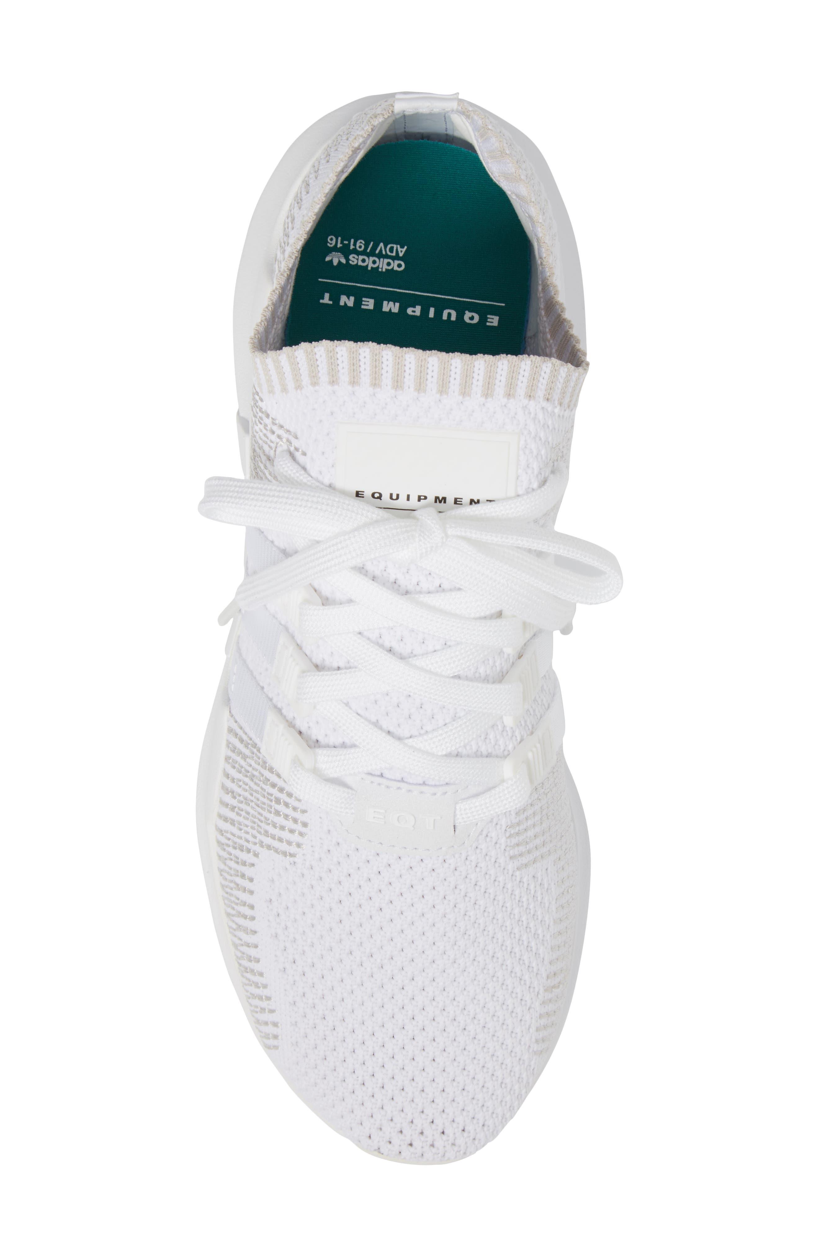 EQT Support ADV PrimeKnit Sneaker,                             Alternate thumbnail 5, color,                             White/ White/ Sub Green