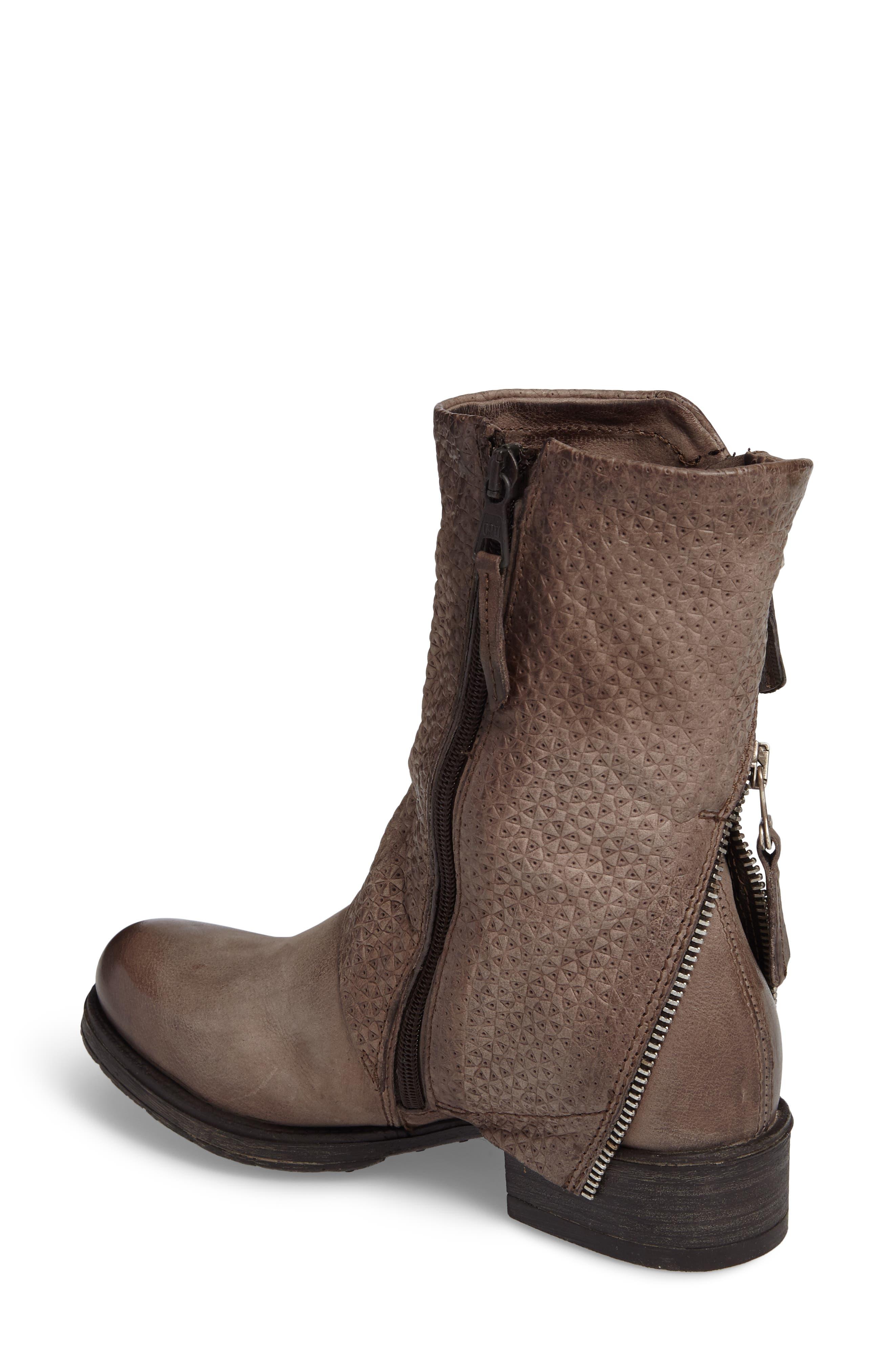 Nugget Asymmetrical Textured Boot,                             Alternate thumbnail 2, color,                             Ash
