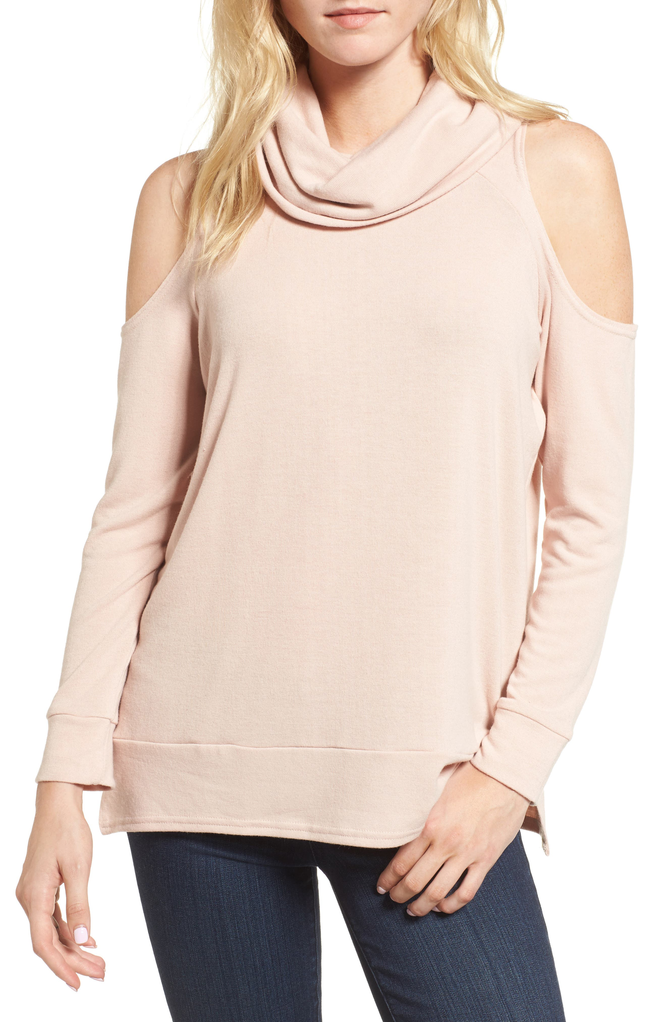 cupcakes and cashmere Malden Cold Shoulder Sweater