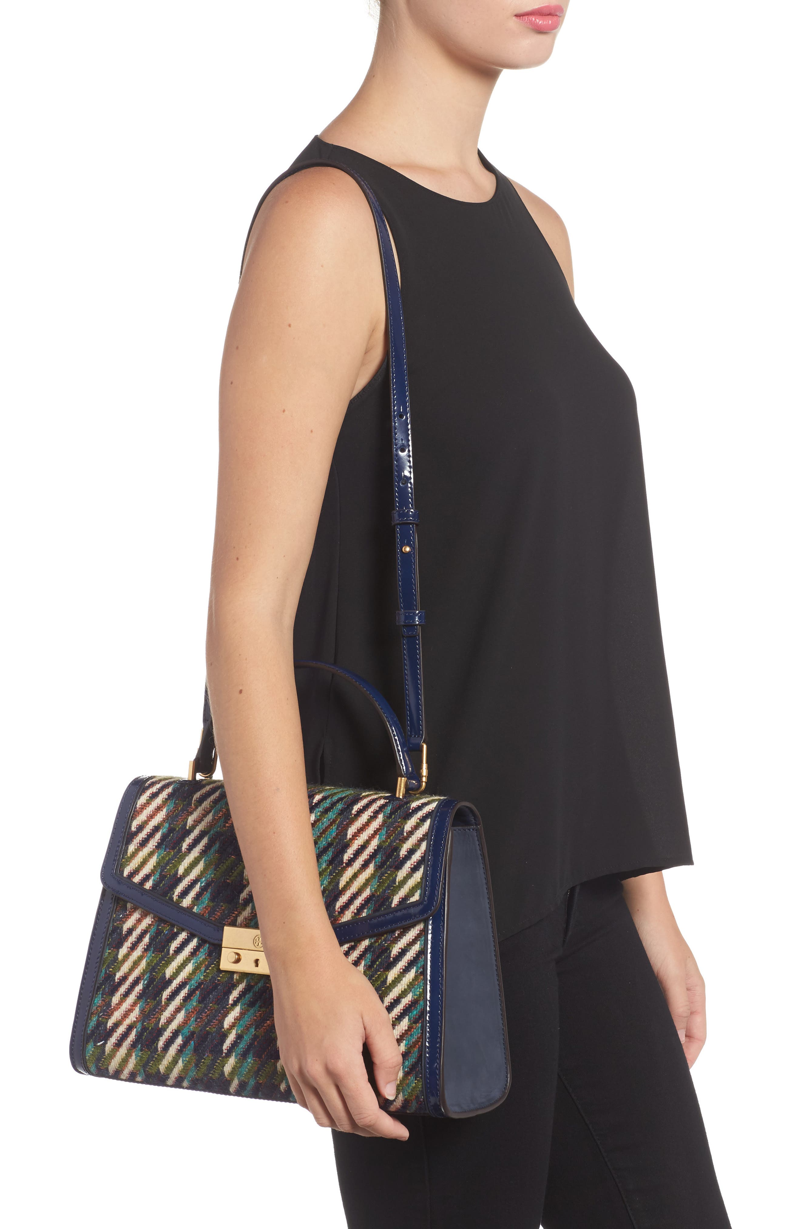Alternate Image 6  - Tory Burch Juliette Tweed Top Handle Satchel