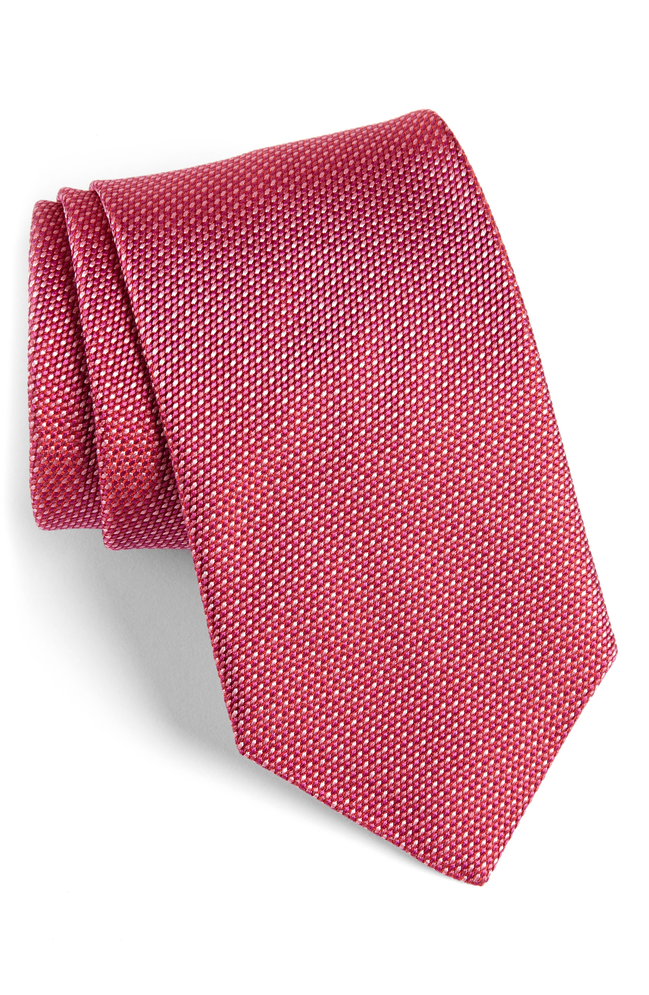 Alternate Image 1 Selected - David Donahue Solid Silk Tie (X-Long)