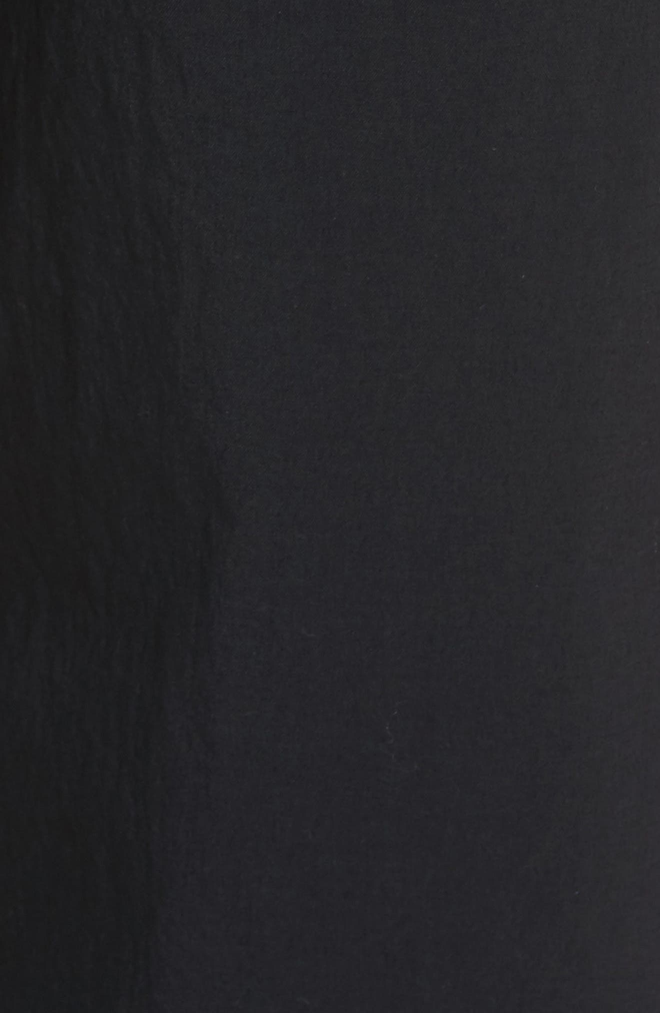 Flex Woven Pants,                             Alternate thumbnail 5, color,                             Black/ White