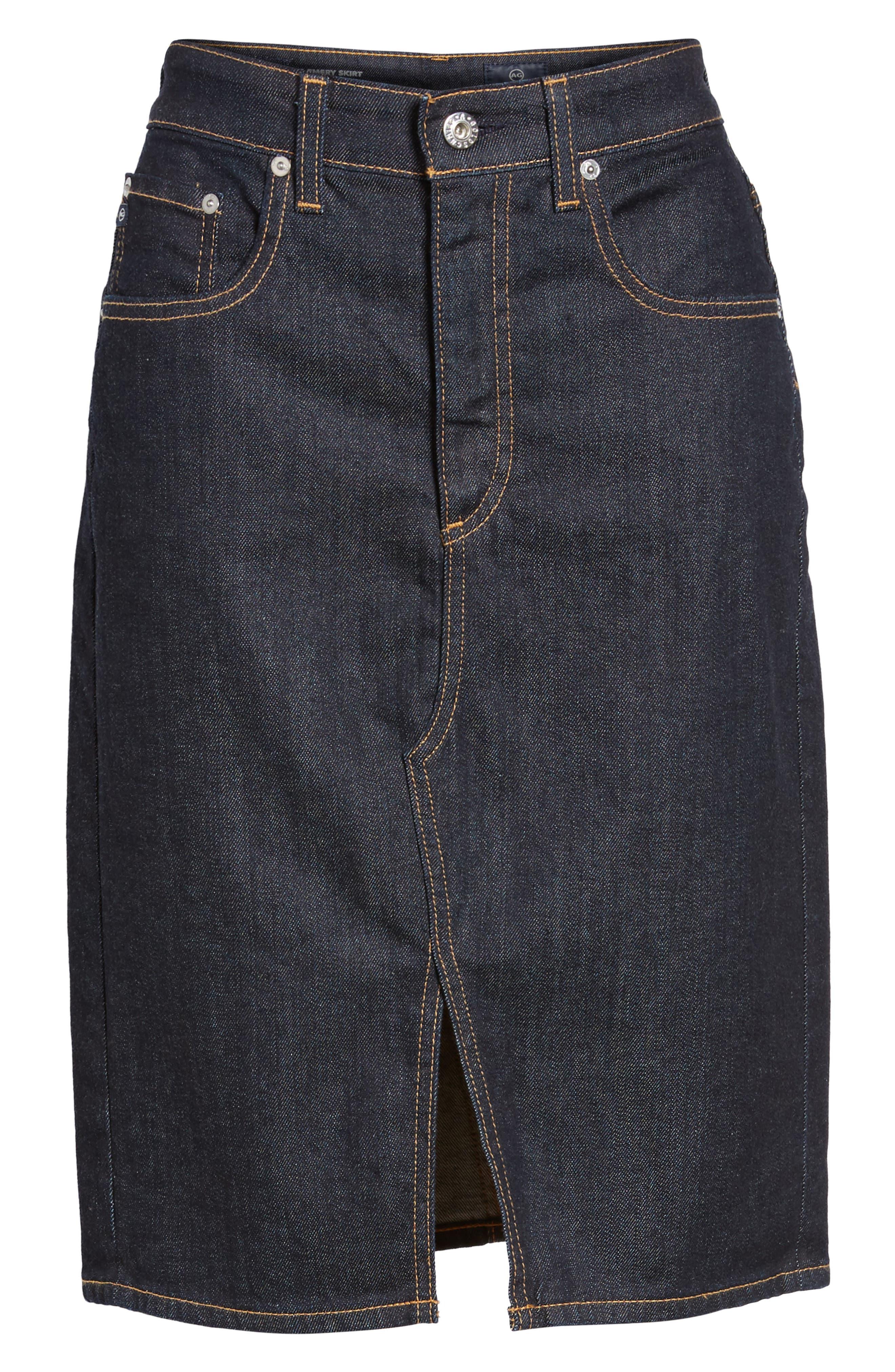 Alternate Image 1 Selected - AG Emery High Waist Denim Skirt