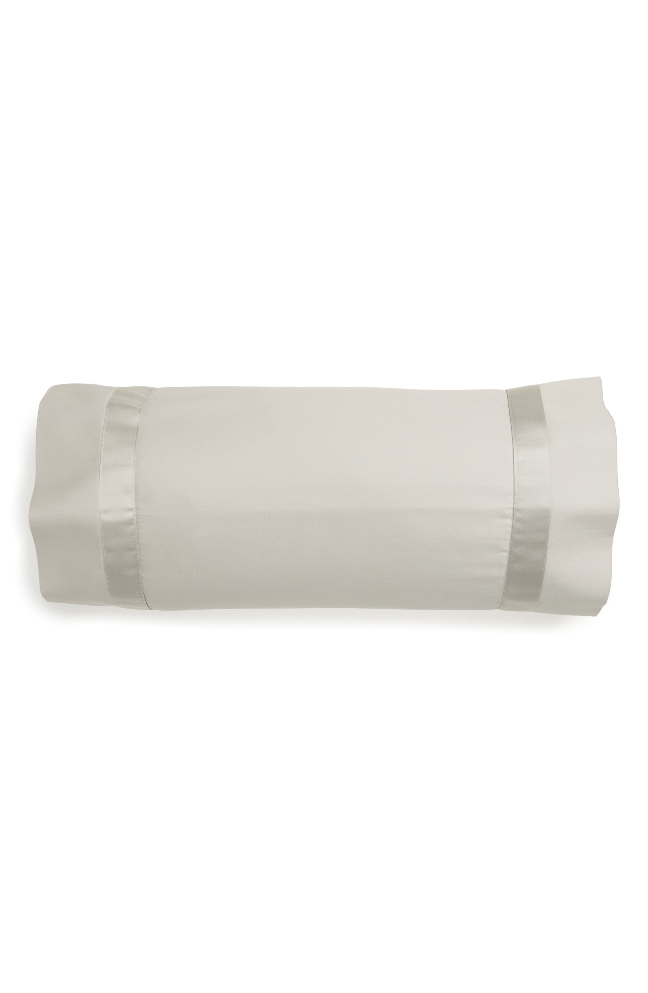Nocturne 600 Thread Count Neckroll Sham,                             Main thumbnail 1, color,                             Silver