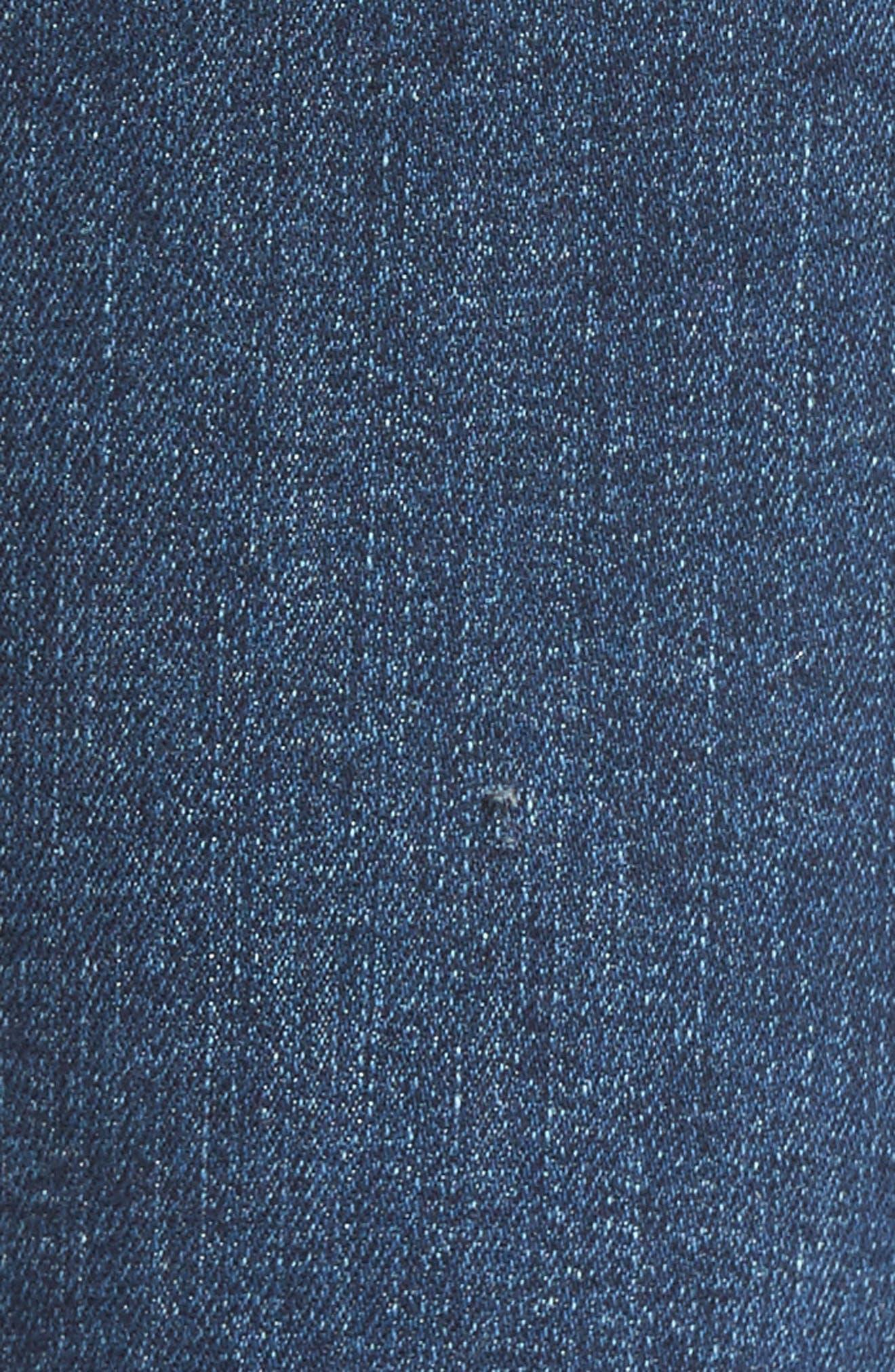 Transcend Vintage - Hoxton High Waist Ankle Peg Jeans,                             Alternate thumbnail 7, color,                             Riviera