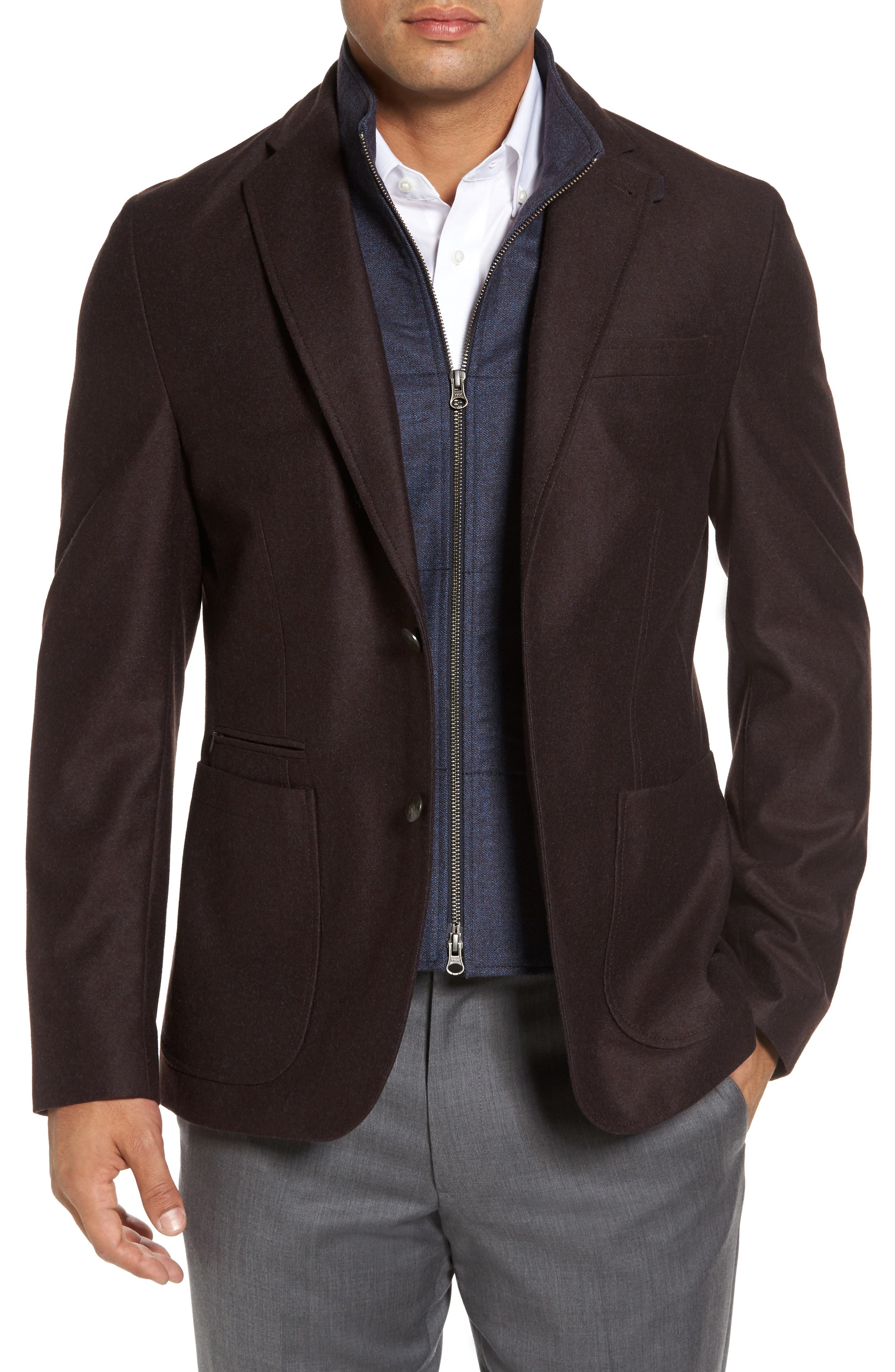 Kroon Jones Aim Hybrid Classic Fit Wool Sport Coat