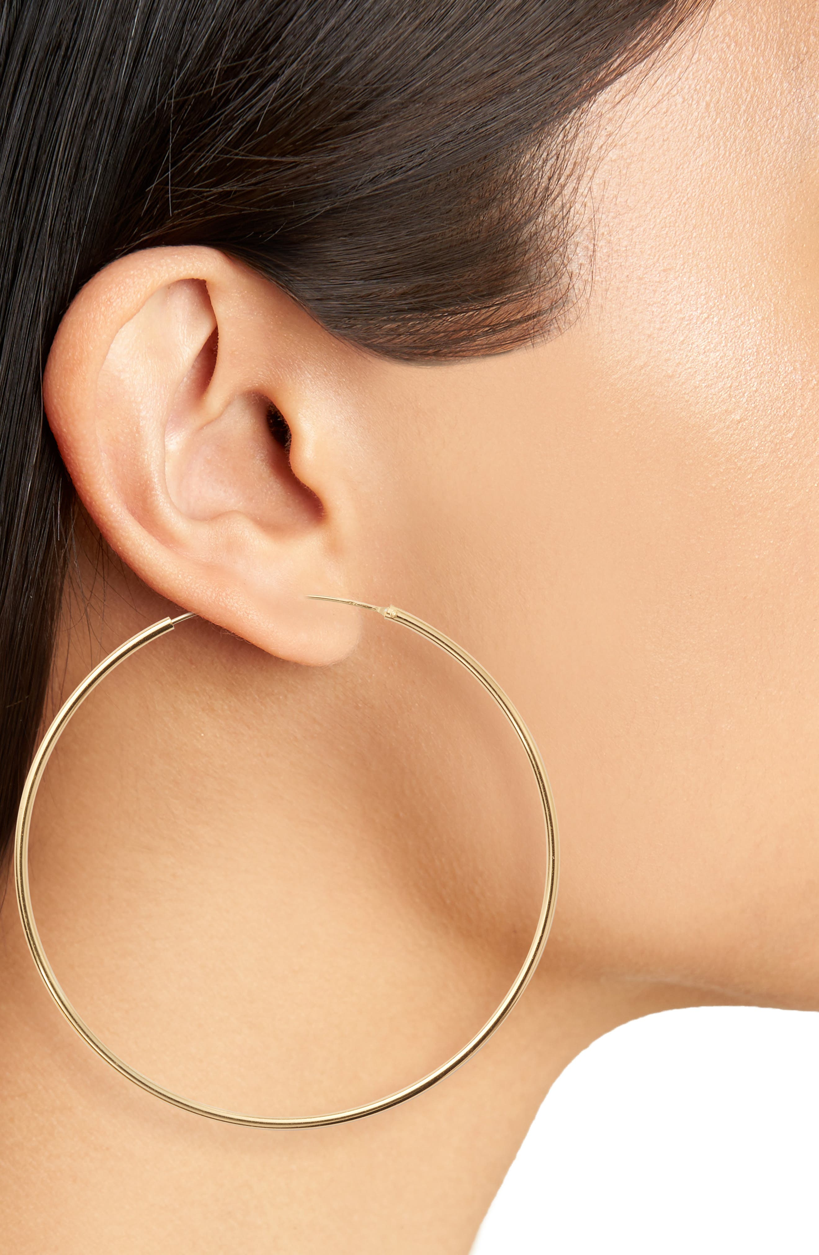 Alternate Image 2  - Argento Vivo Endless Extra Large Hoop Earrings
