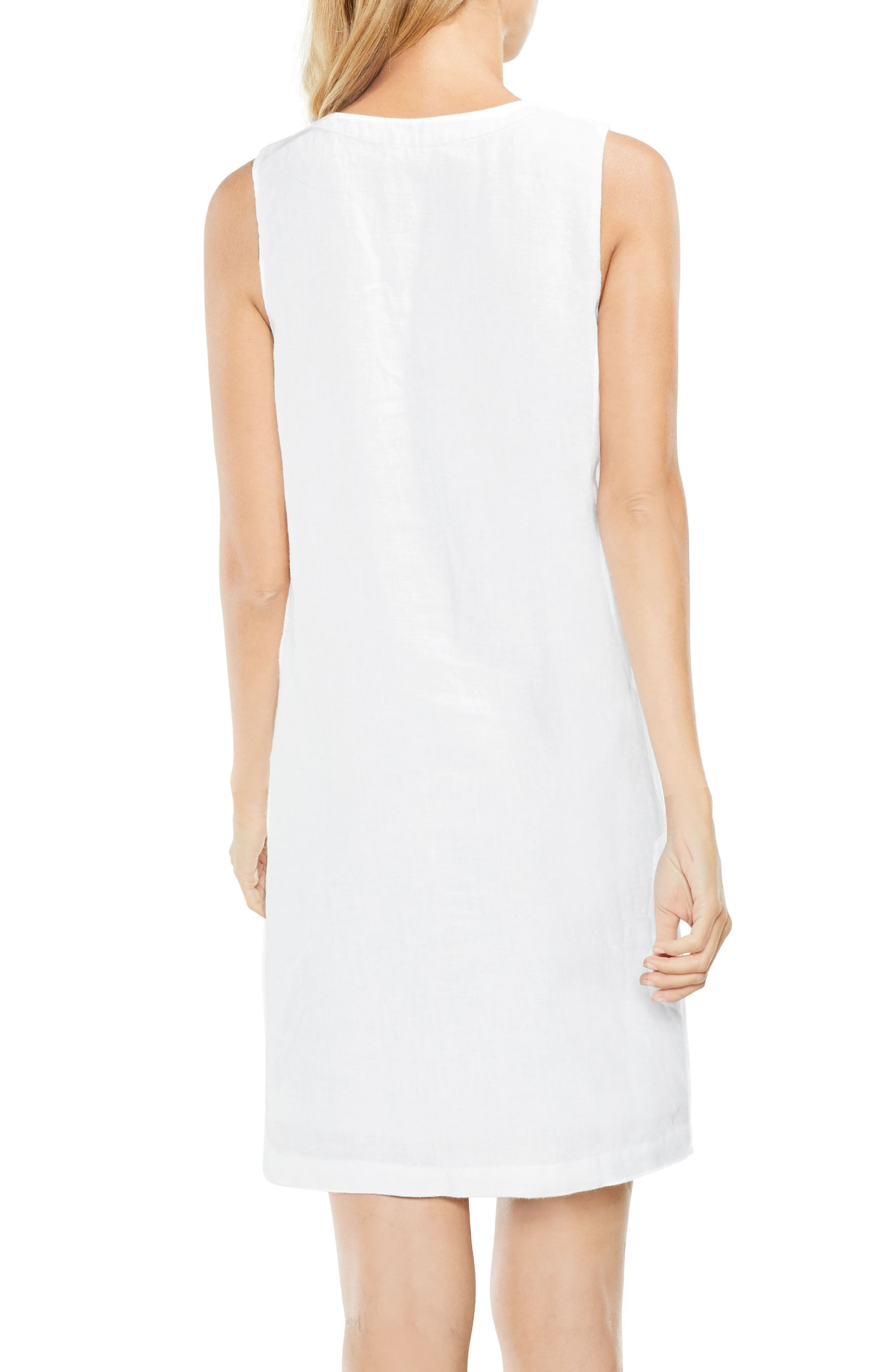 Alternate Image 3  - Two by Vince Camuto Lace-Up Linen Shift Dress