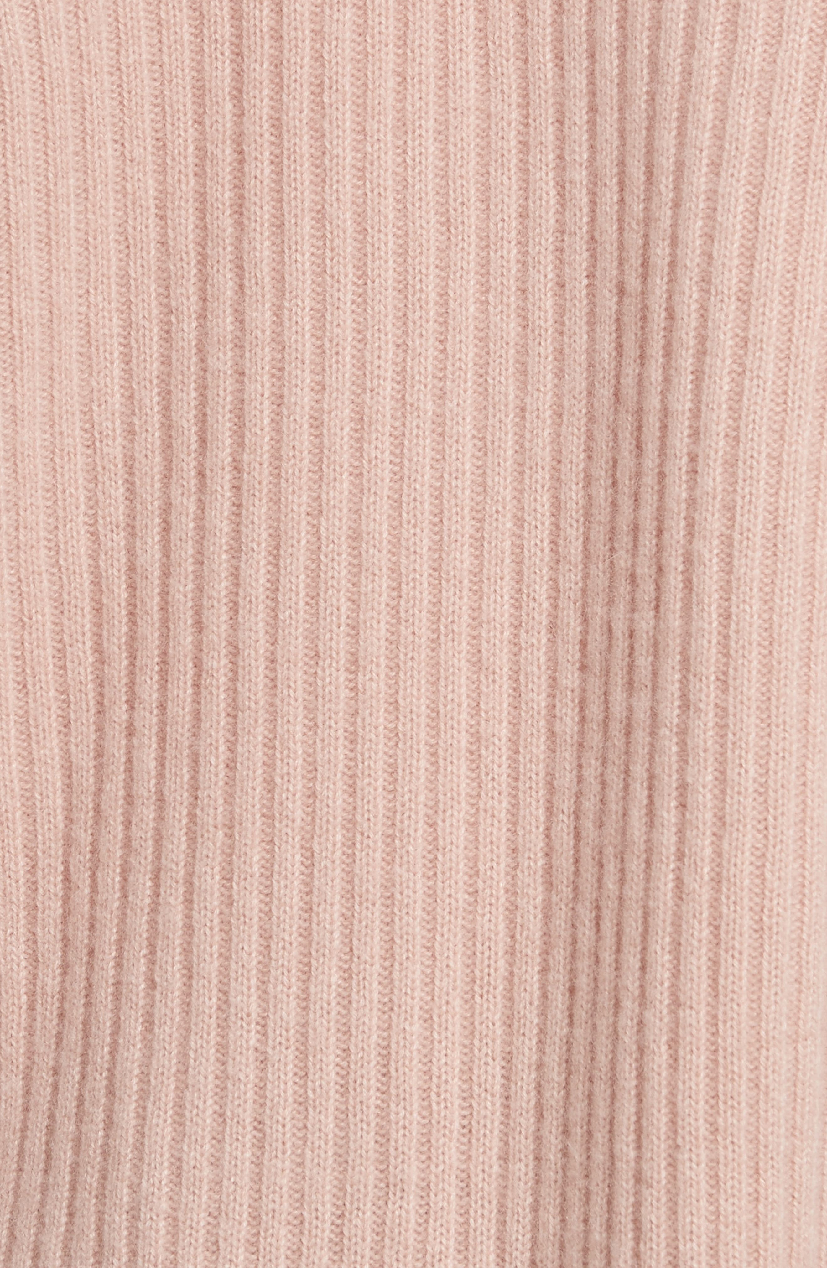 Wool Blend Raglan V-Neck Sweater,                             Alternate thumbnail 5, color,                             Quartz