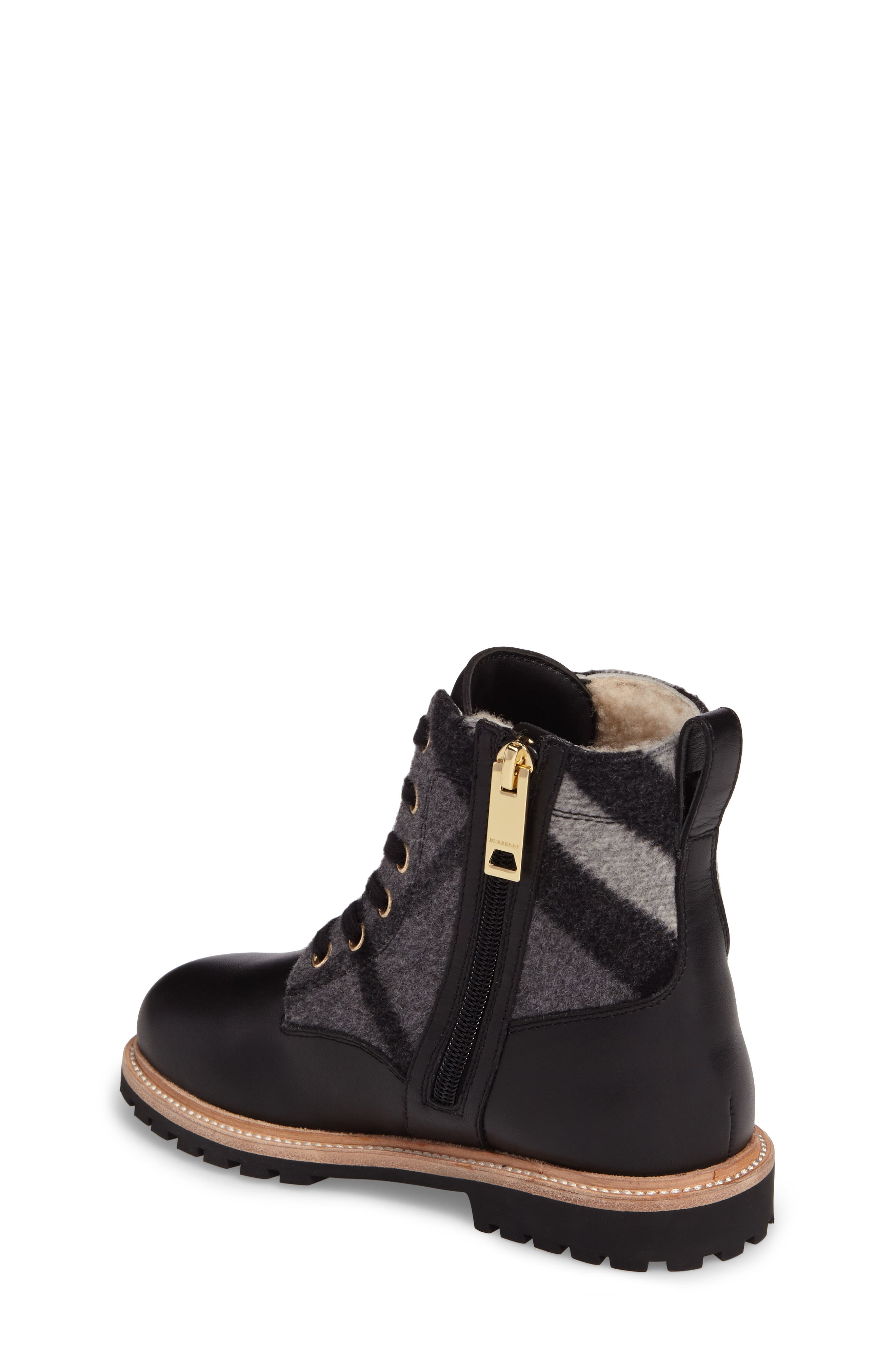 Alternate Image 2  - Burberry Mini William Genuine Shearling Boot (Toddler, Little Kid & Big Kid)