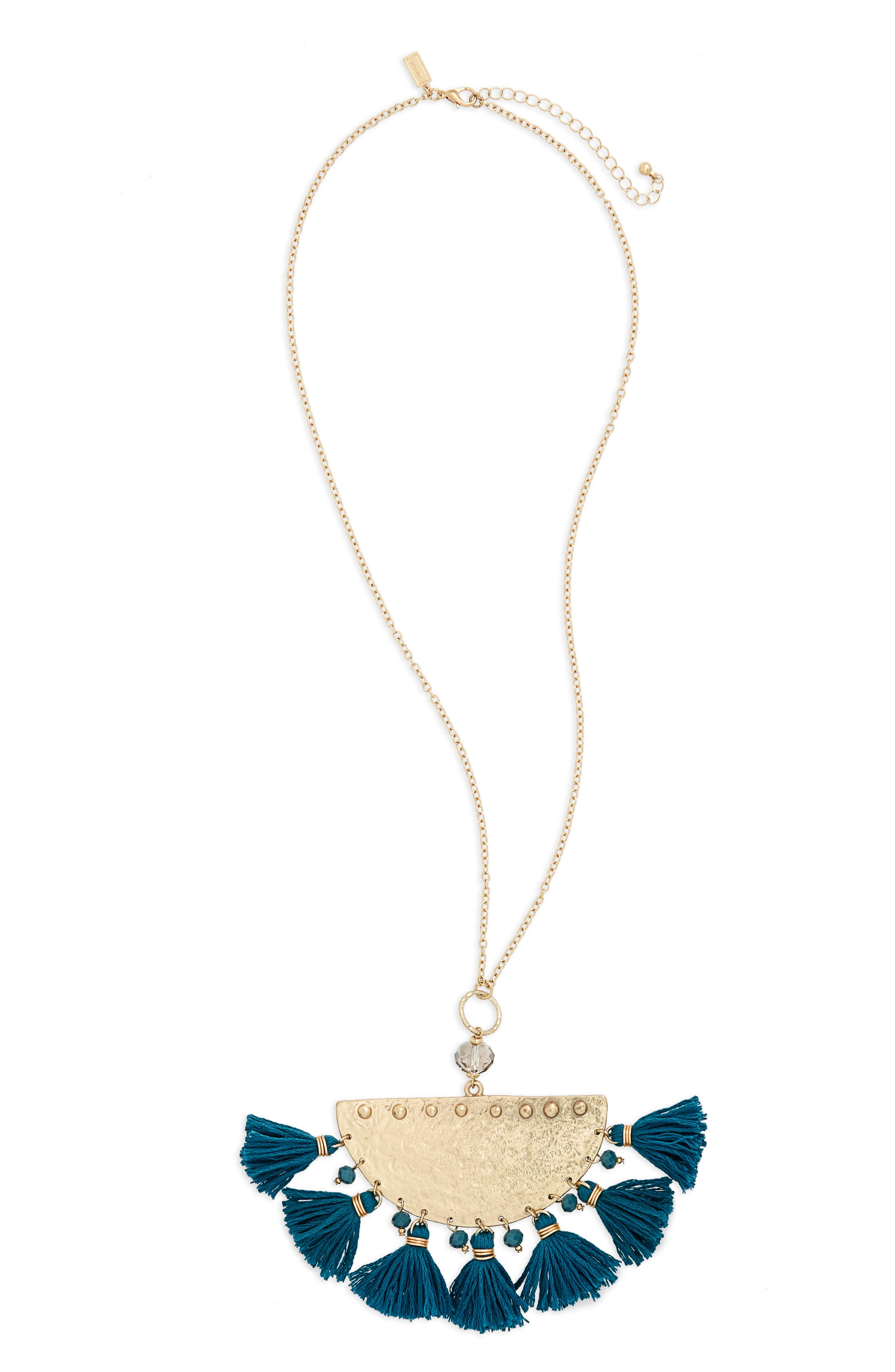 Alternate Image 1 Selected - Canvas Jewelry Moon Tassel Necklace