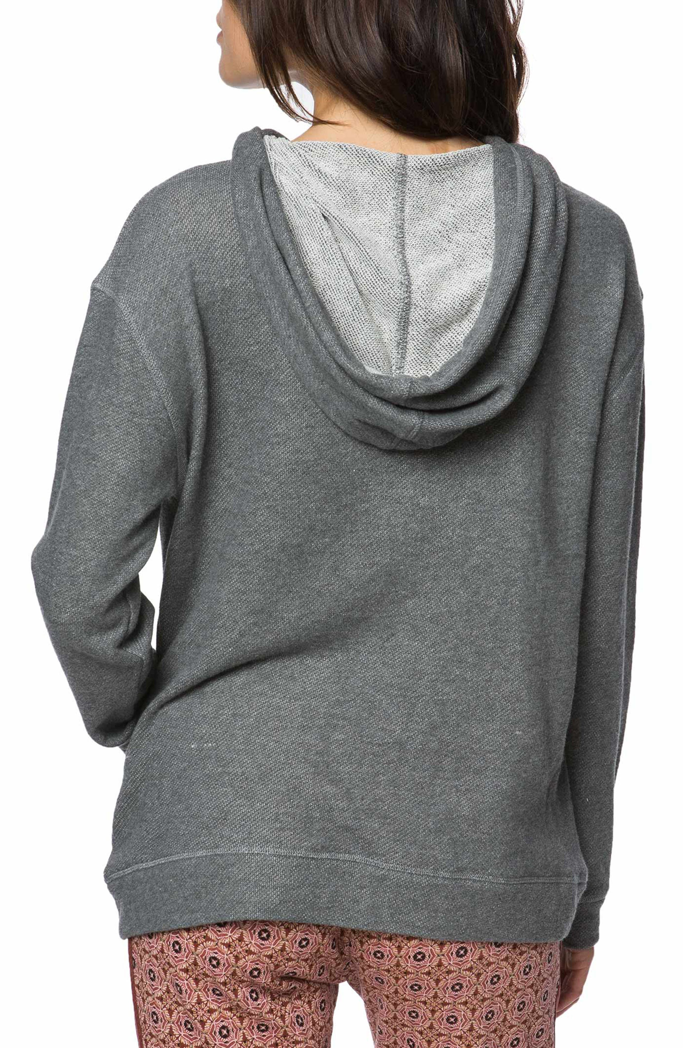 Brianne Embroidered Hoodie,                             Alternate thumbnail 2, color,                             Heather Grey - Hgr