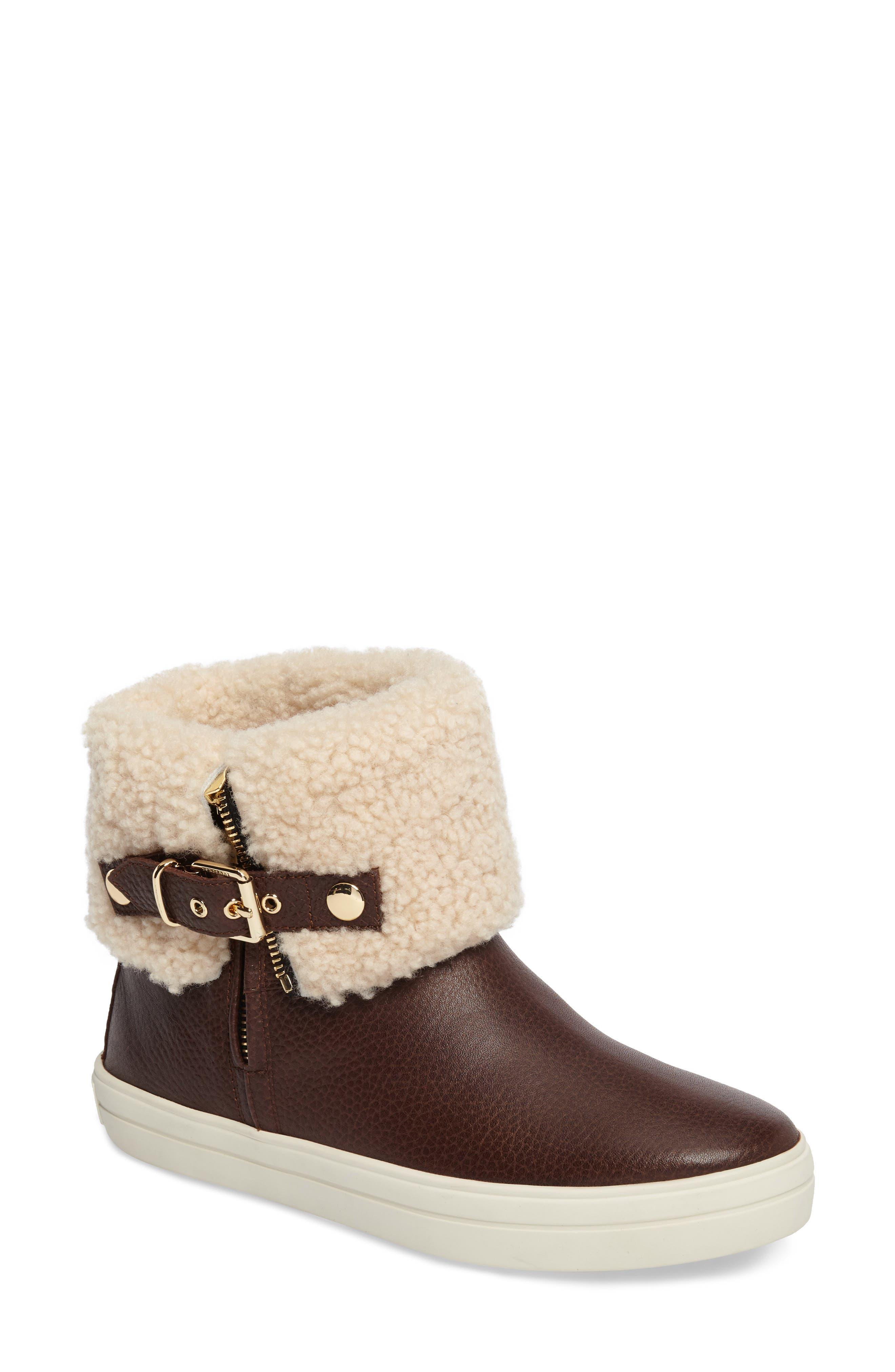 Alternate Image 1 Selected - Burberry Genuine Shearling Boot (Women)