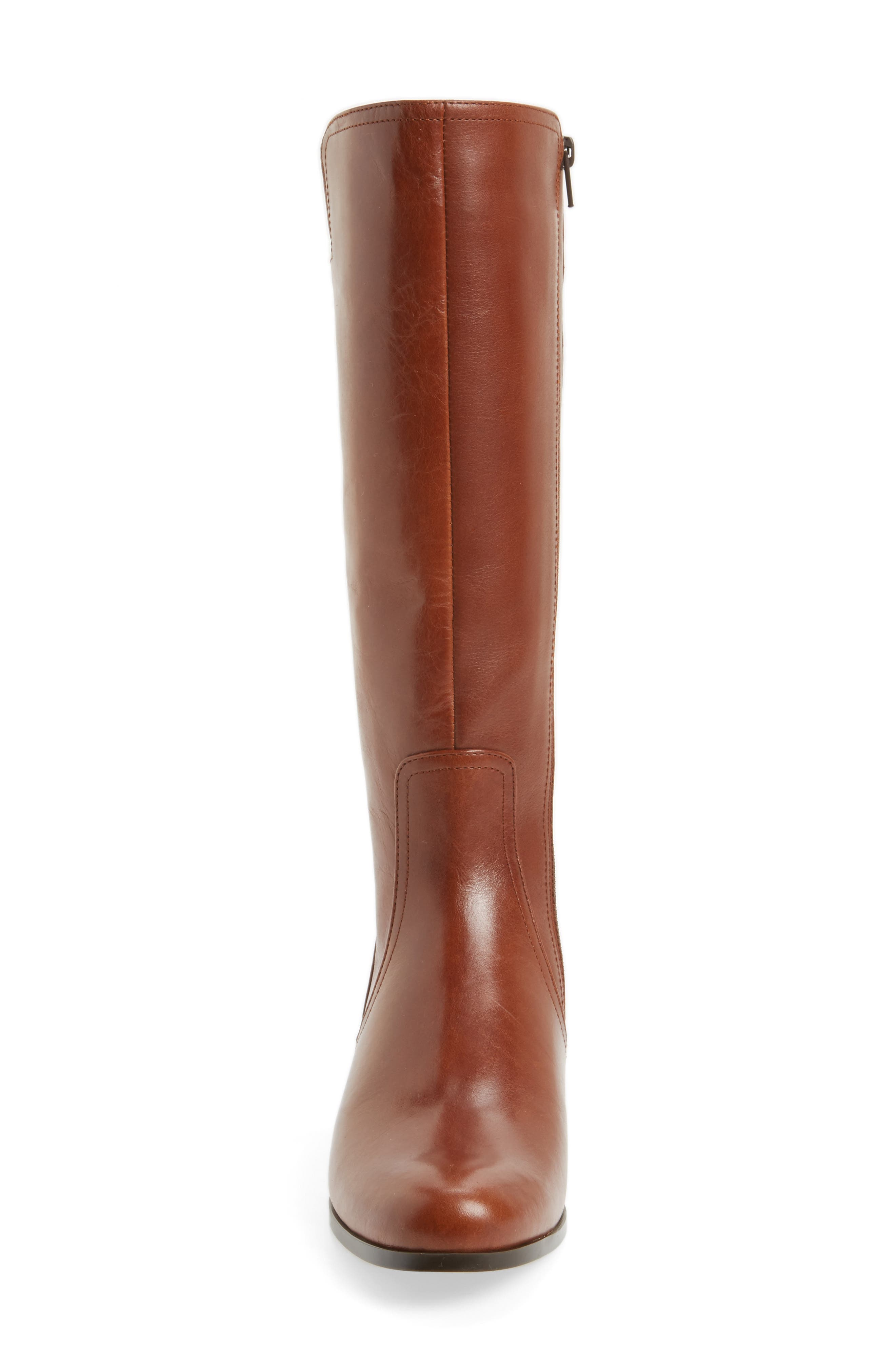 Rebel Tall Boot,                             Alternate thumbnail 4, color,                             Tan Leather