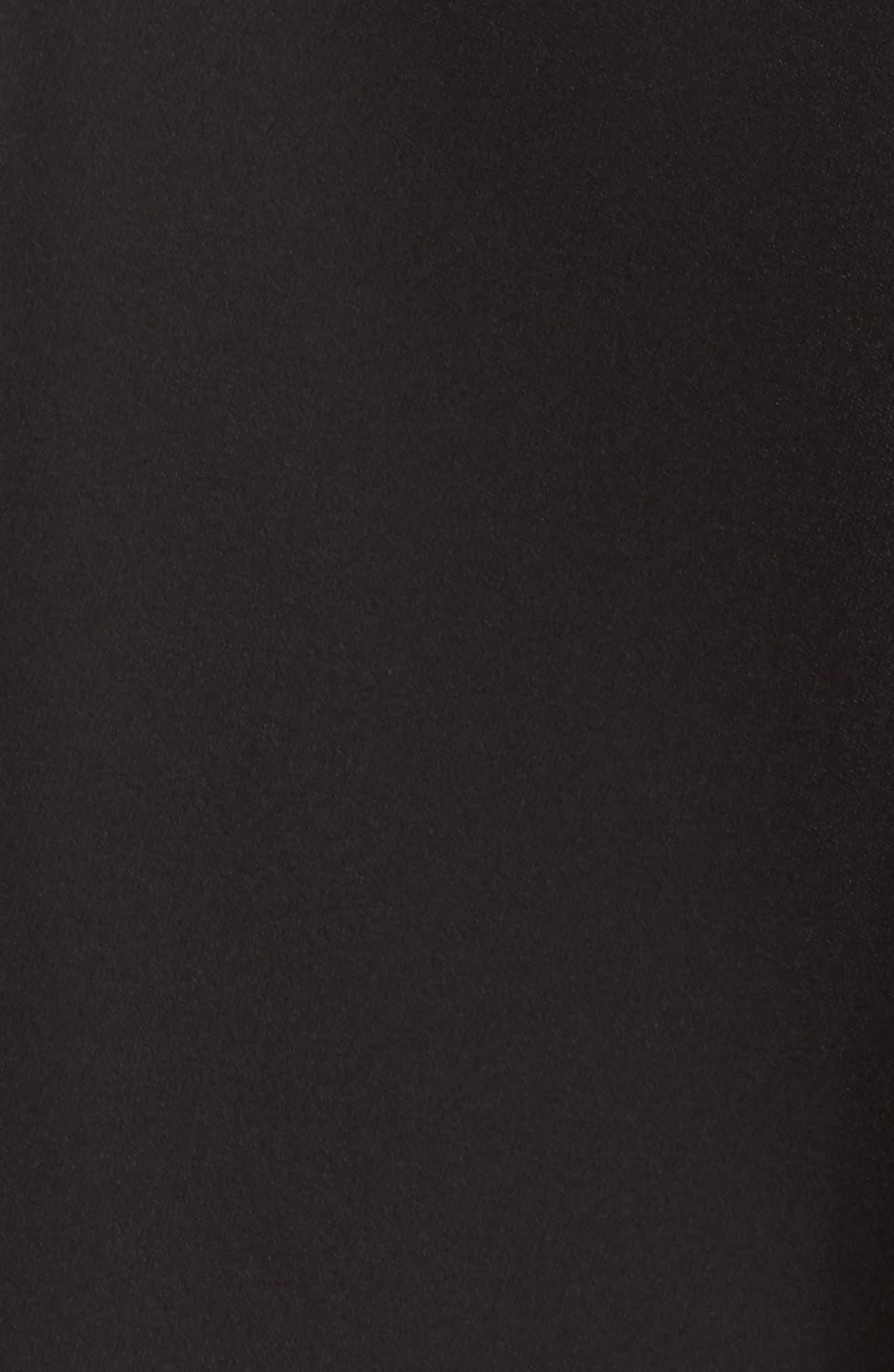 Bianca Back Cutout Fit & Flare Dress,                             Alternate thumbnail 6, color,                             Black