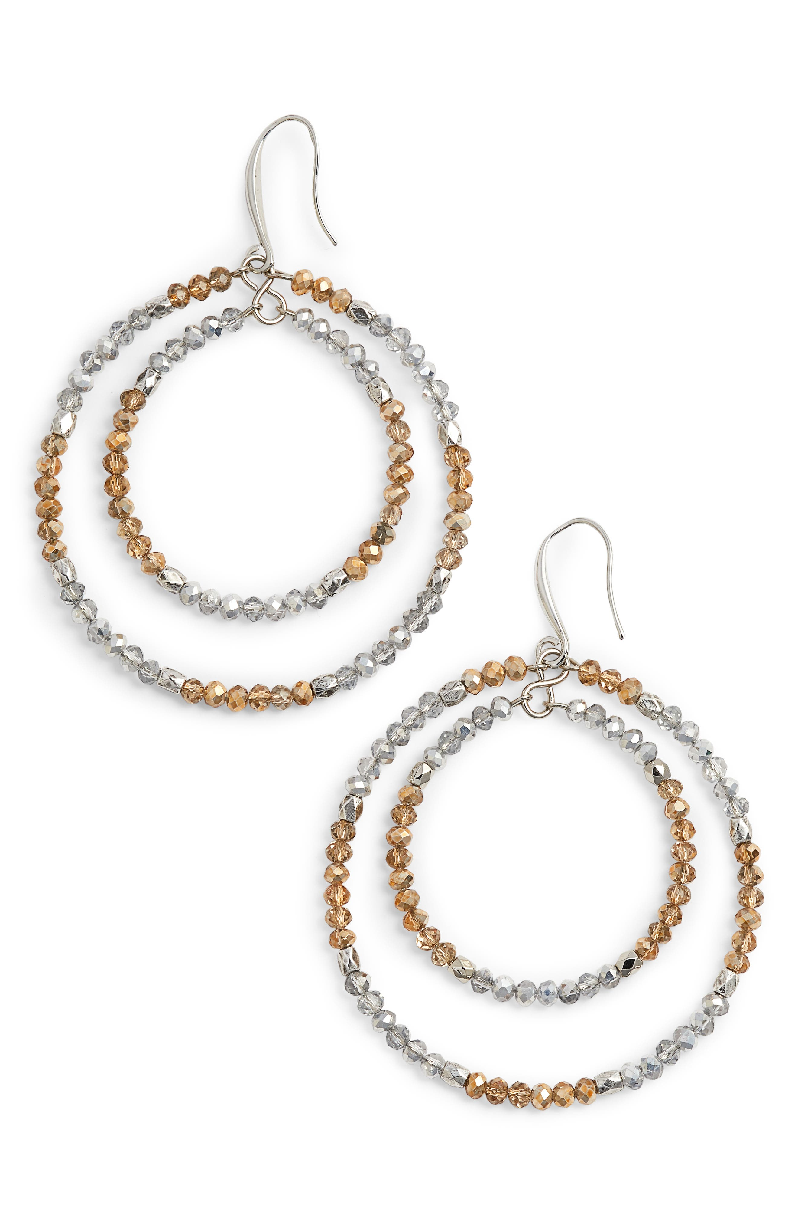 CRISTABELLE Beaded Frontal Hoops