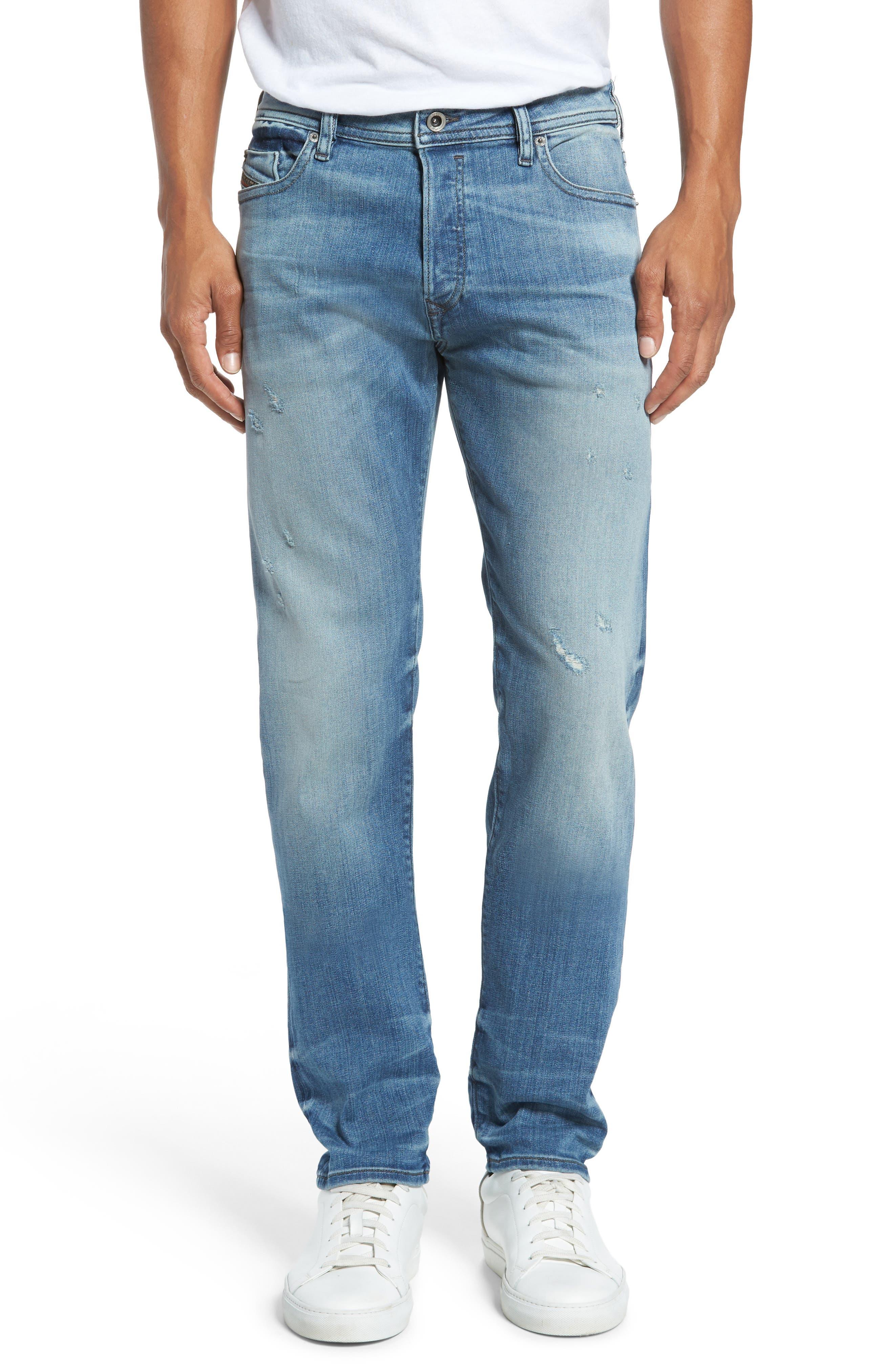 Alternate Image 1 Selected - DIESEL® 'Buster' Slim Straight Fit Jeans (Denim)