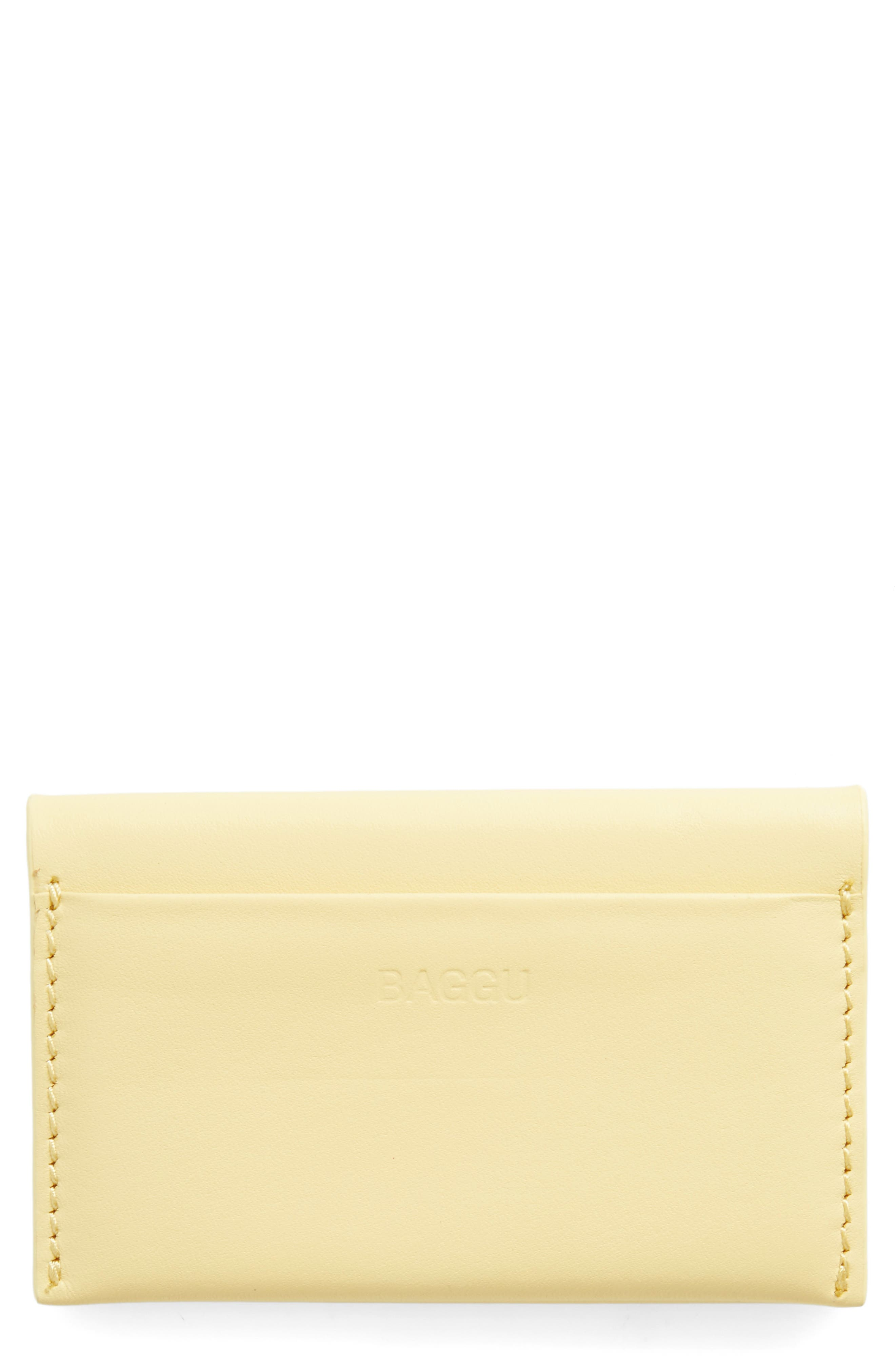 Baggu Leather Card Case
