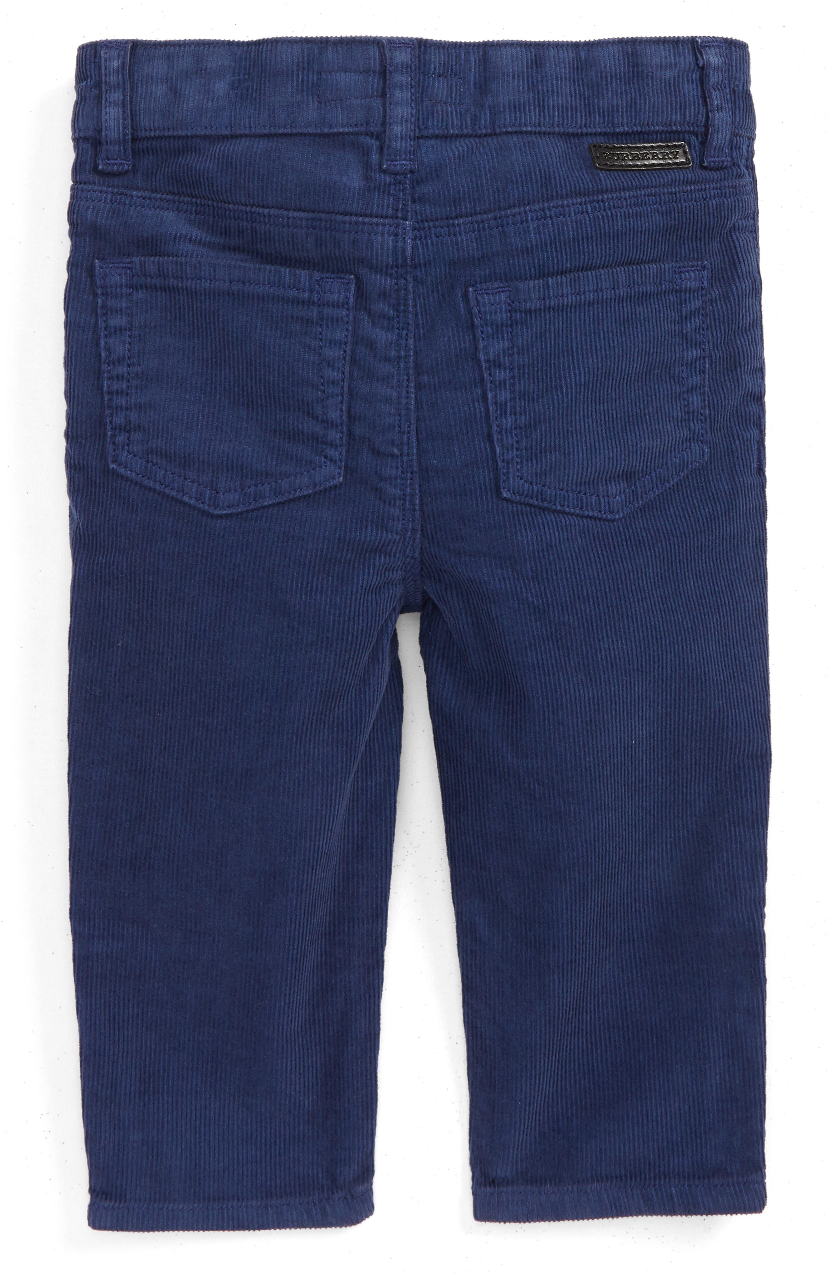 Alternate Image 2  - Burberry Langston Corduroy Skinny Pants (Baby Boys)