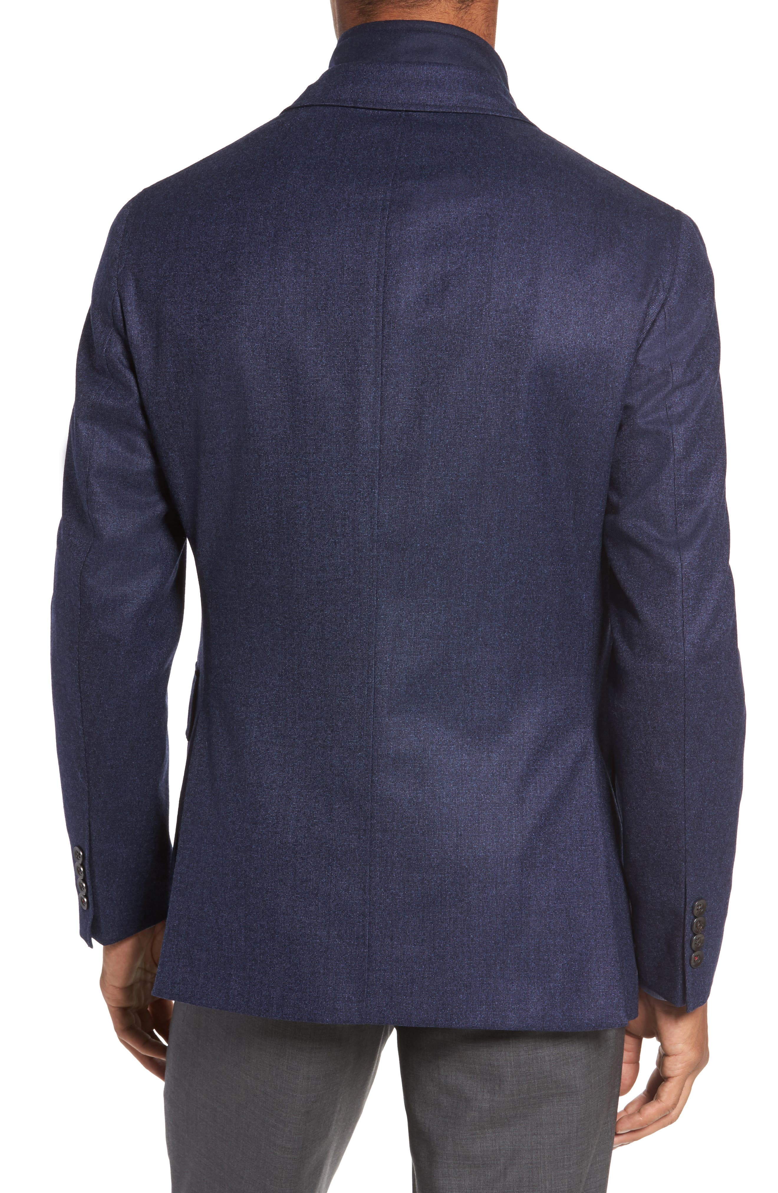 Aaron Classic Fit Wool Blazer,                             Alternate thumbnail 2, color,                             Navy