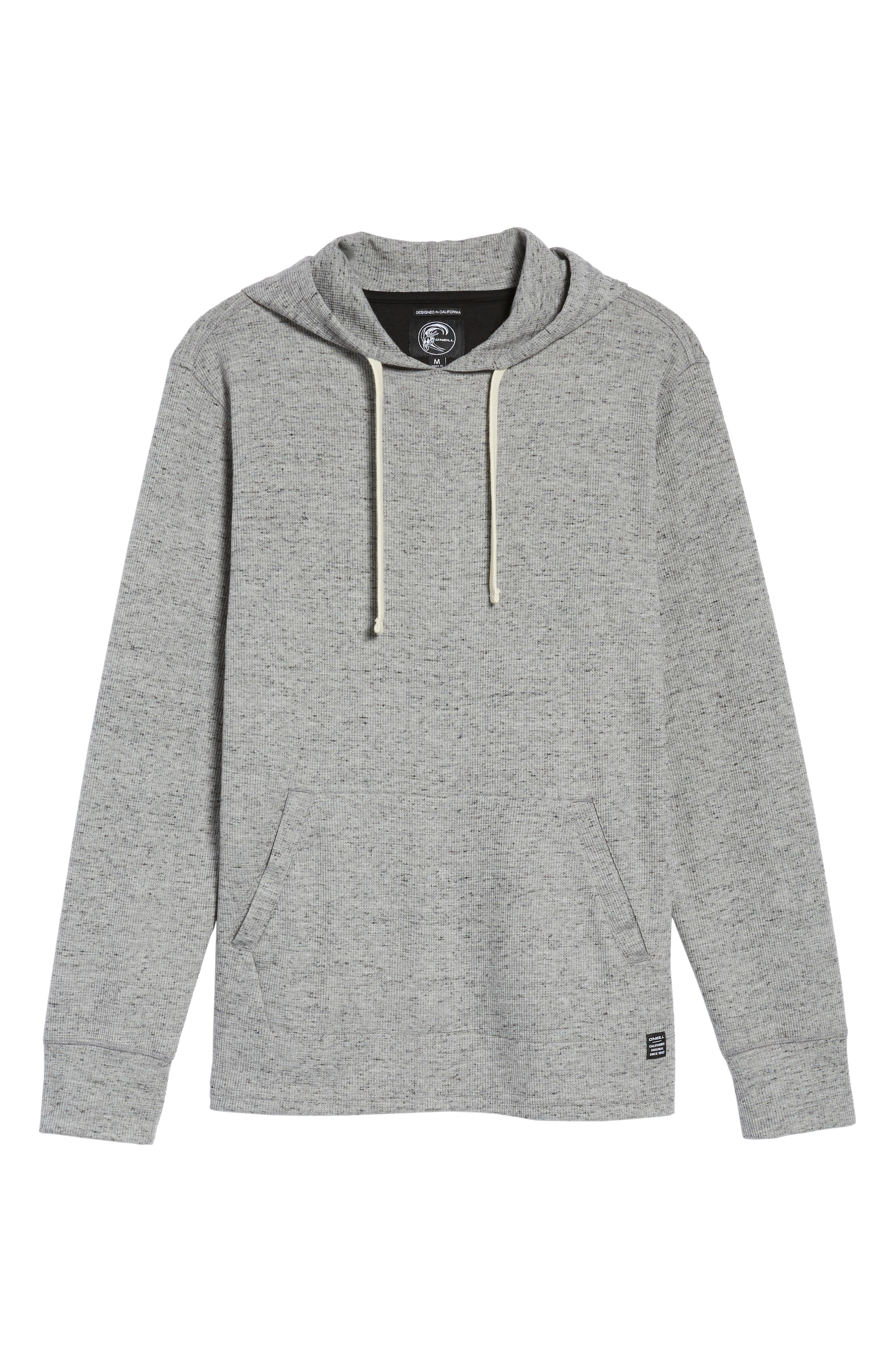 Boldin Thermal Pullover Hoodie,                             Alternate thumbnail 5, color,                             Light Grey