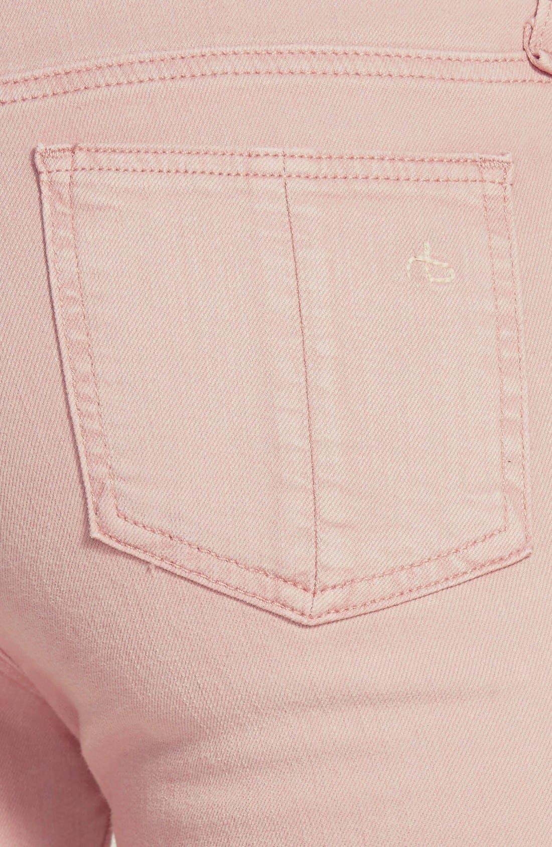 Alternate Image 3  - rag & bone/JEAN 'The Skinny' Stretch Skinny Jeans (Rose)