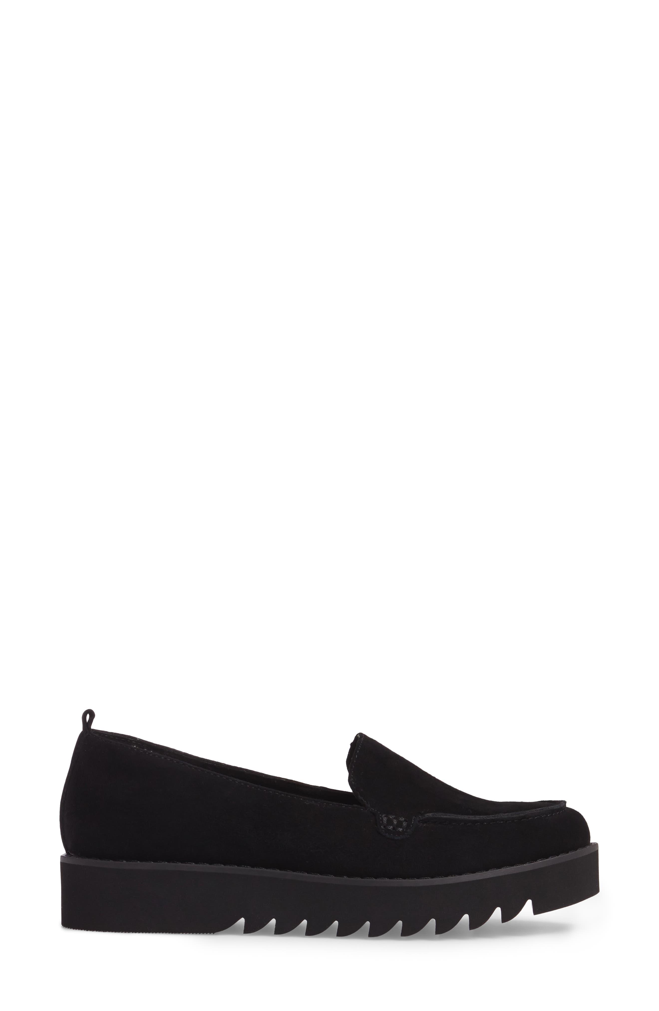 Kendall Loafer,                             Alternate thumbnail 3, color,                             Black Suede