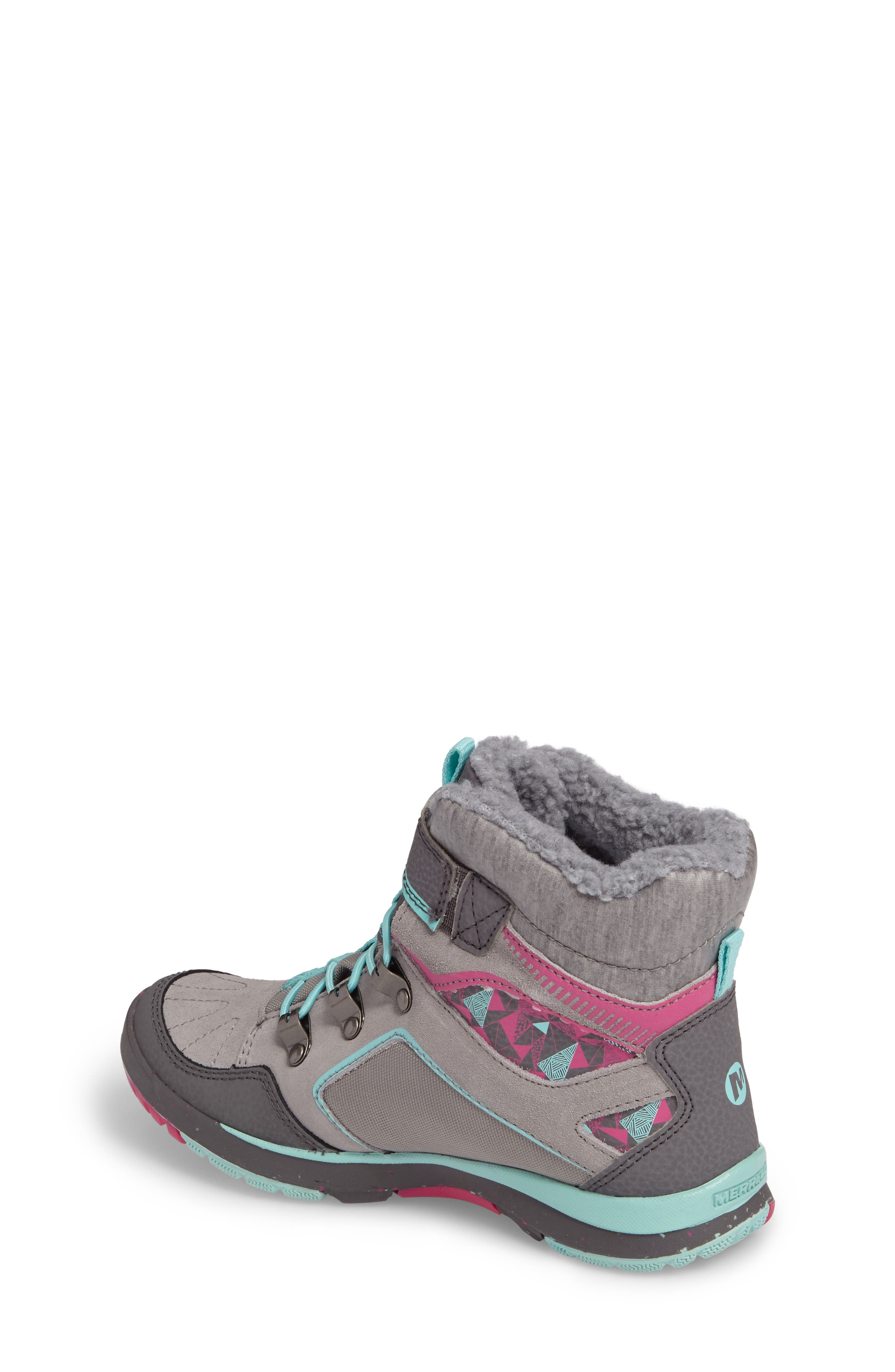 Moab FST Polar Mid Waterproof Insulated Sneaker Boot,                             Alternate thumbnail 2, color,                             Grey/ Multi