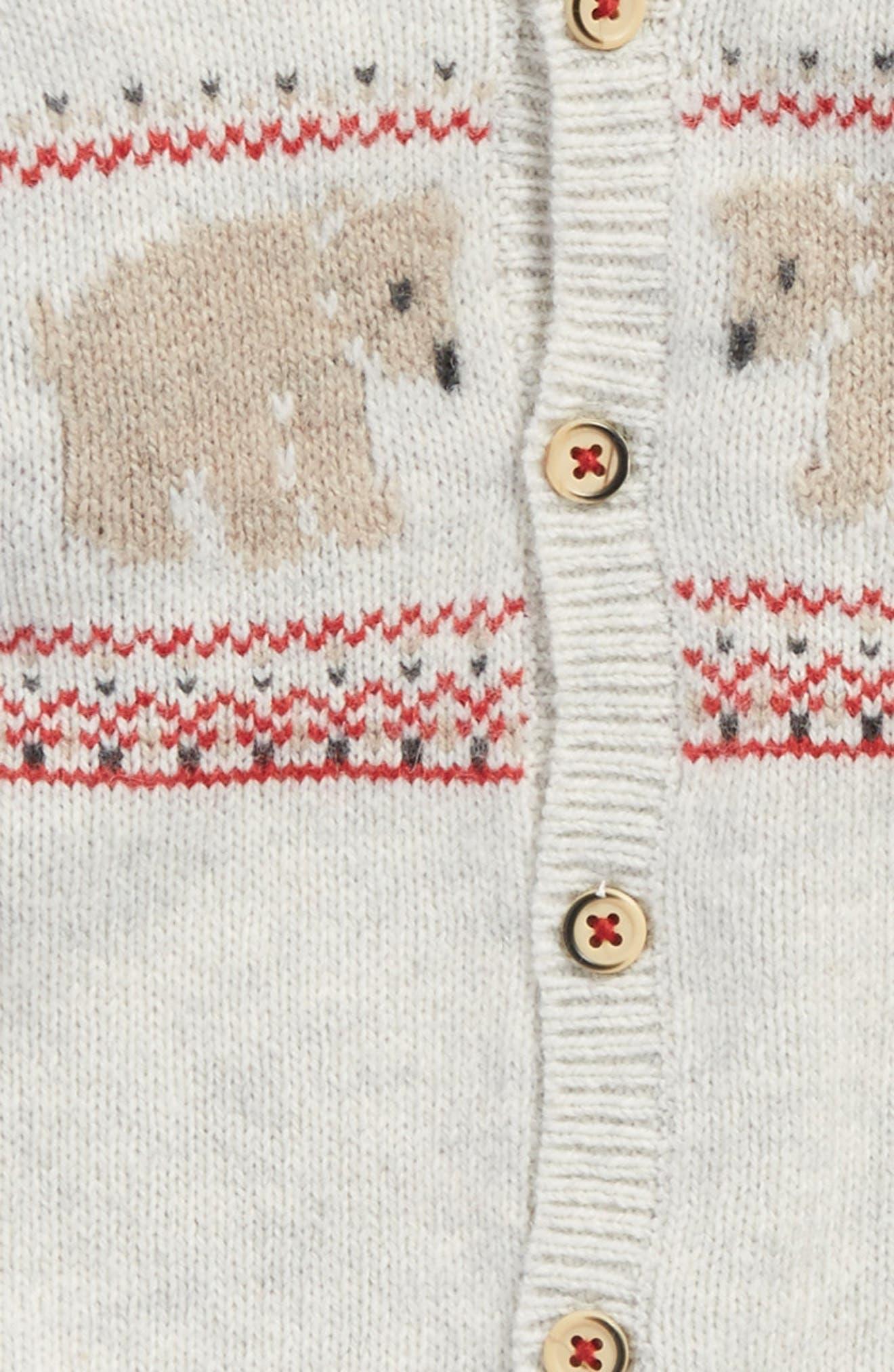 Alternate Image 2  - Petit Bateau Jacquard Knit Romper (Baby)