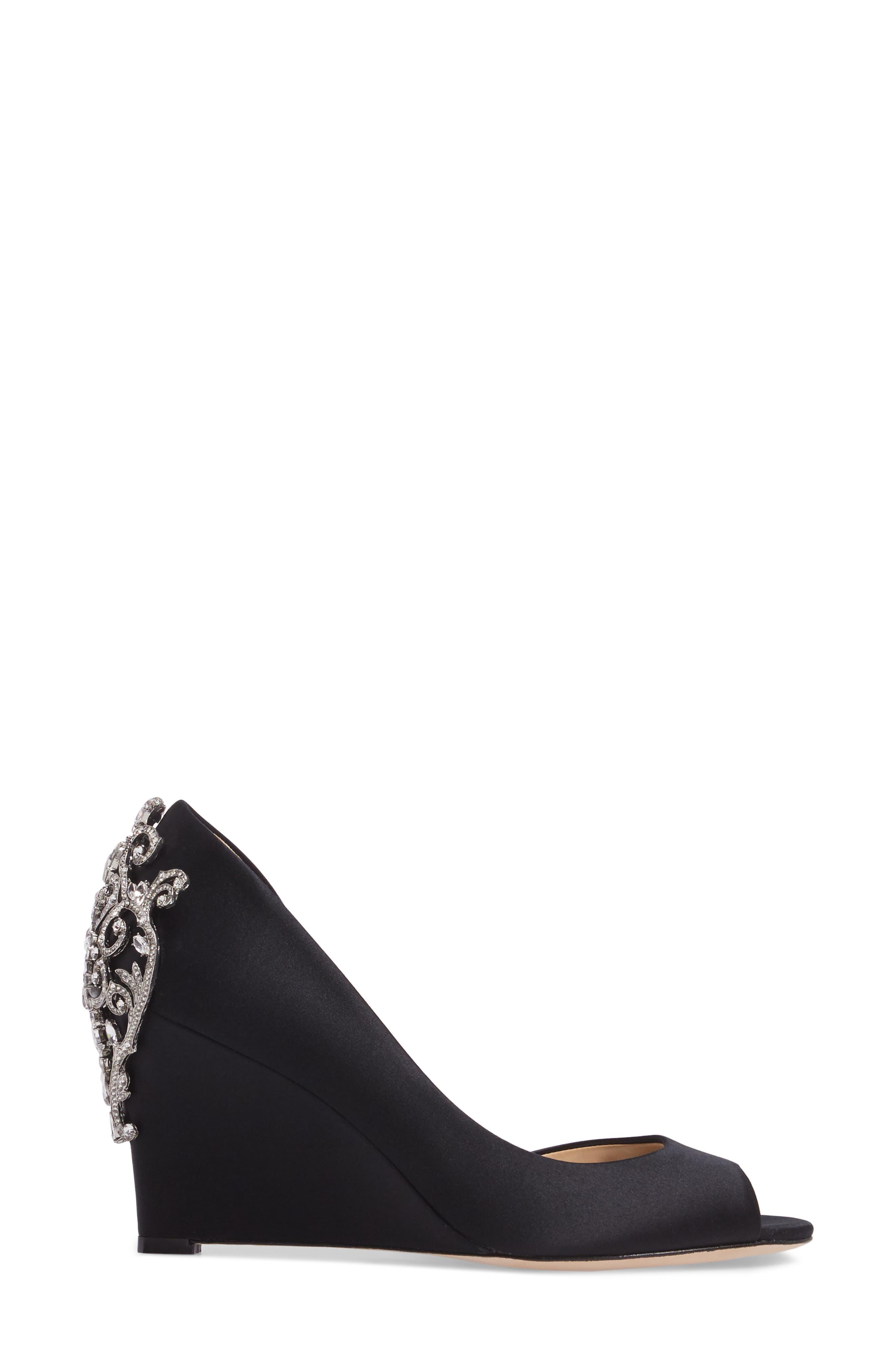 Alternate Image 3  - Badgley Mischka Meagan Embellished Peep Toe Wedge (Women)