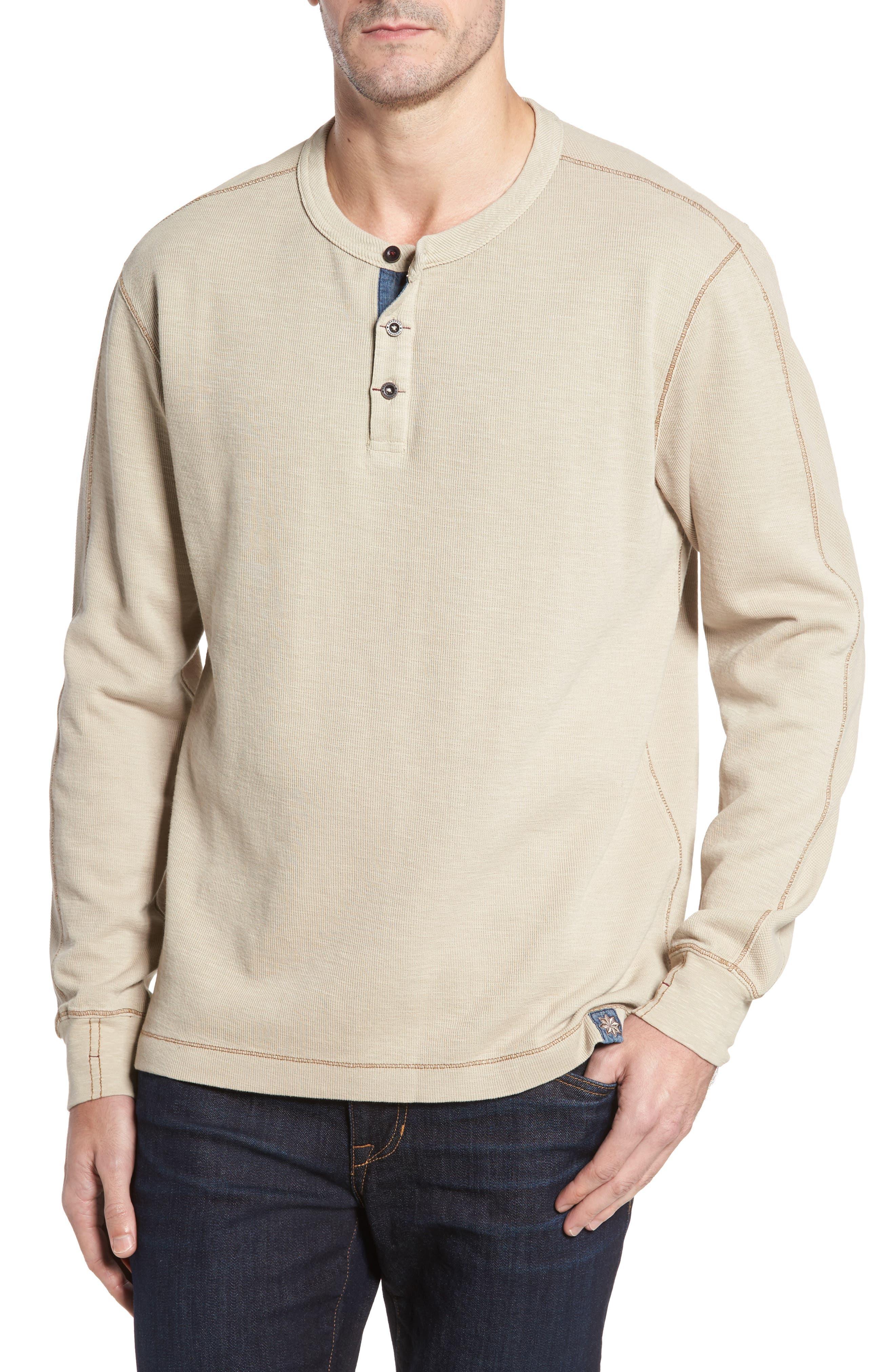 Hans Long Sleeve Henley T-Shirt,                         Main,                         color, Stone