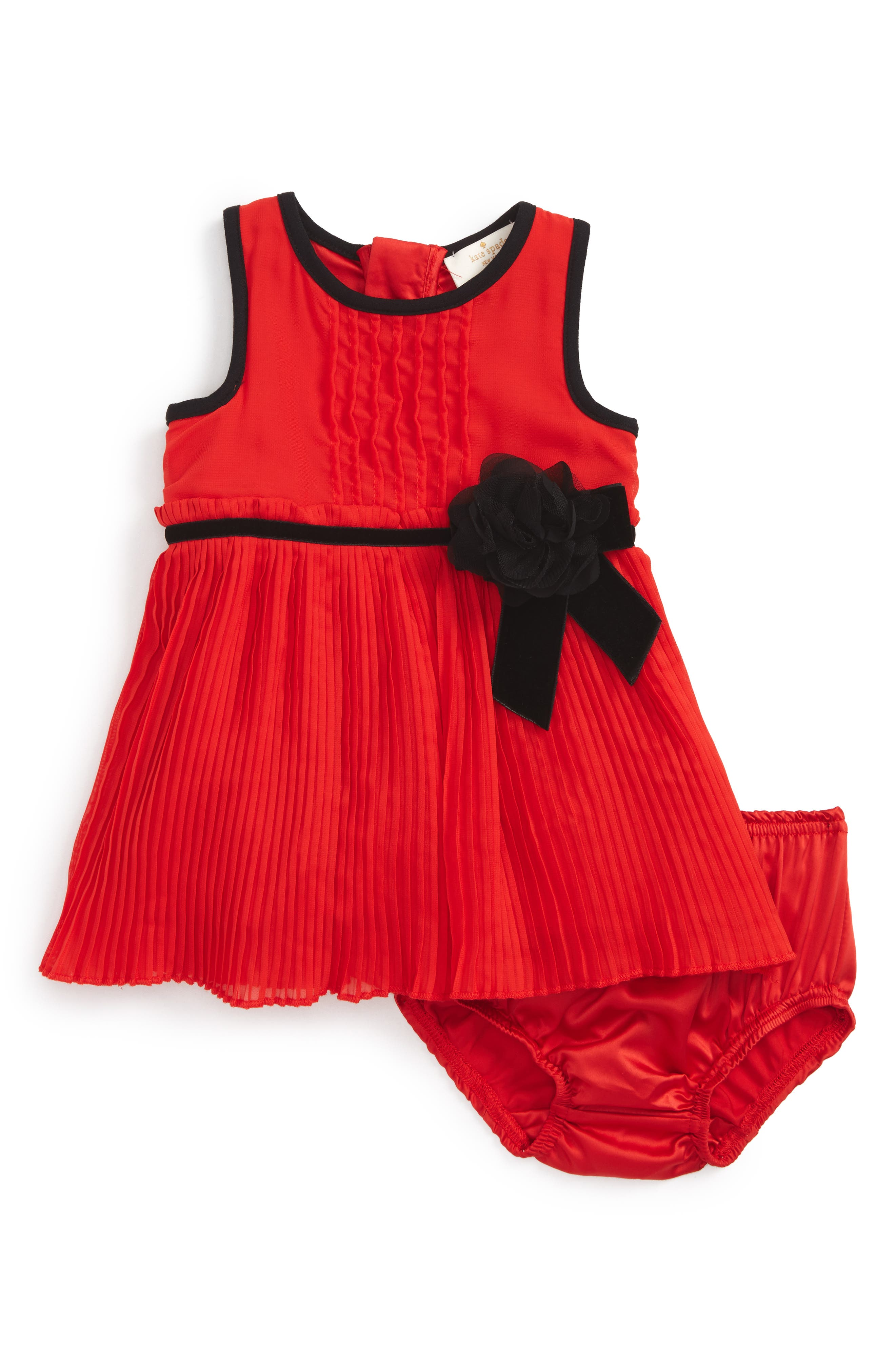 Main Image - kate spade new york chiffon dress (Baby Girls)