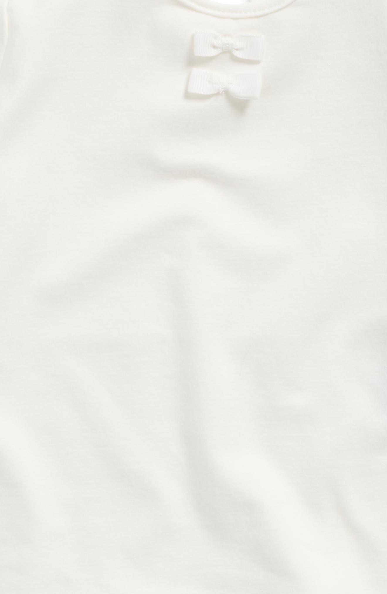 Alternate Image 2  - Robeez® Bow Trim Knit Top (Baby Girls)