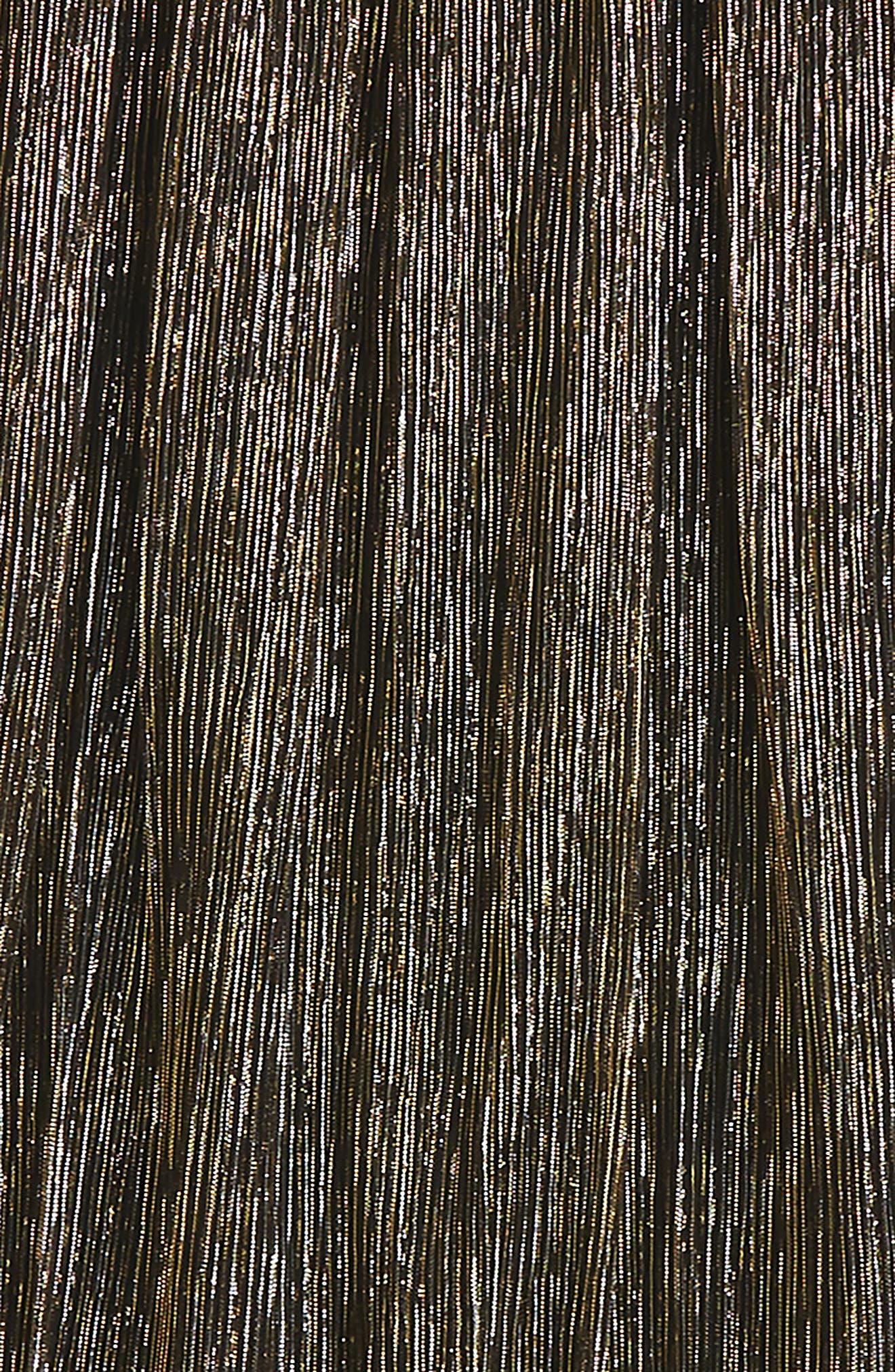 Pleated Metallic Skirt,                             Alternate thumbnail 2, color,                             Black/ Gold