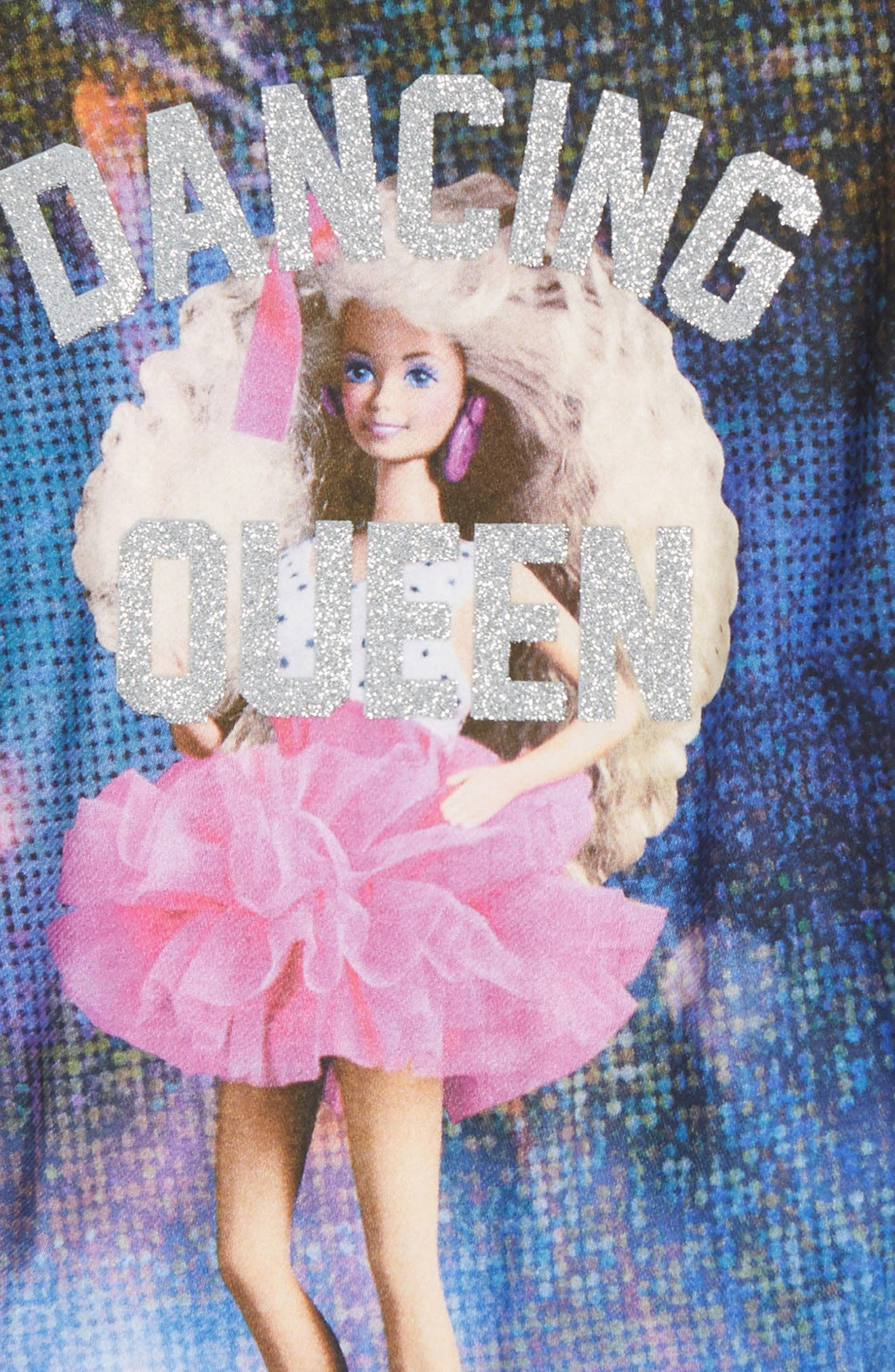 Alternate Image 2  - Little ELEVENPARIS Dancing Queen Barbie® Tee (Toddler Girls, Little Girls & Big Girls)