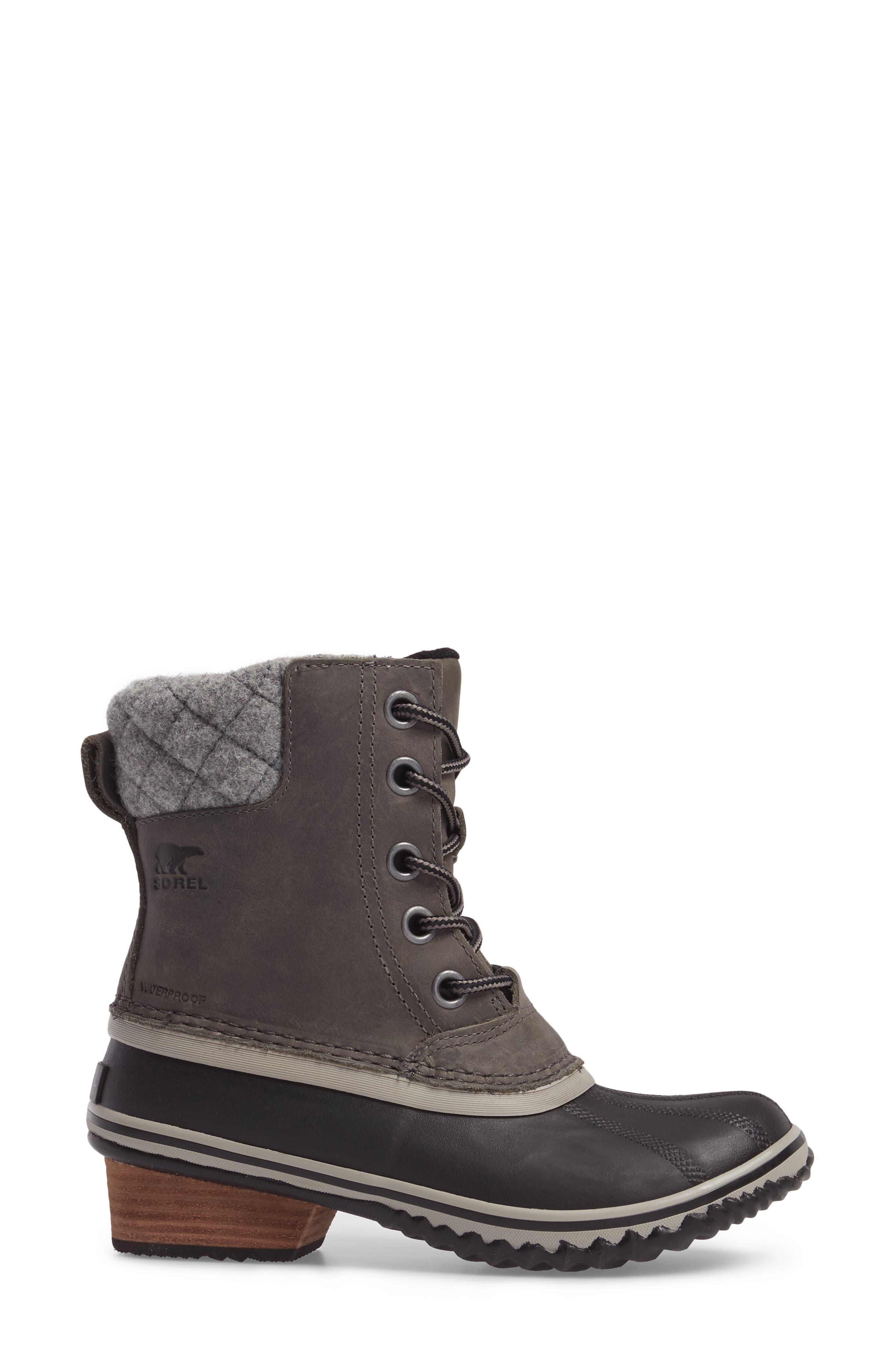 Slimpack II Waterproof Boot,                             Alternate thumbnail 3, color,                             Quarry/ Black