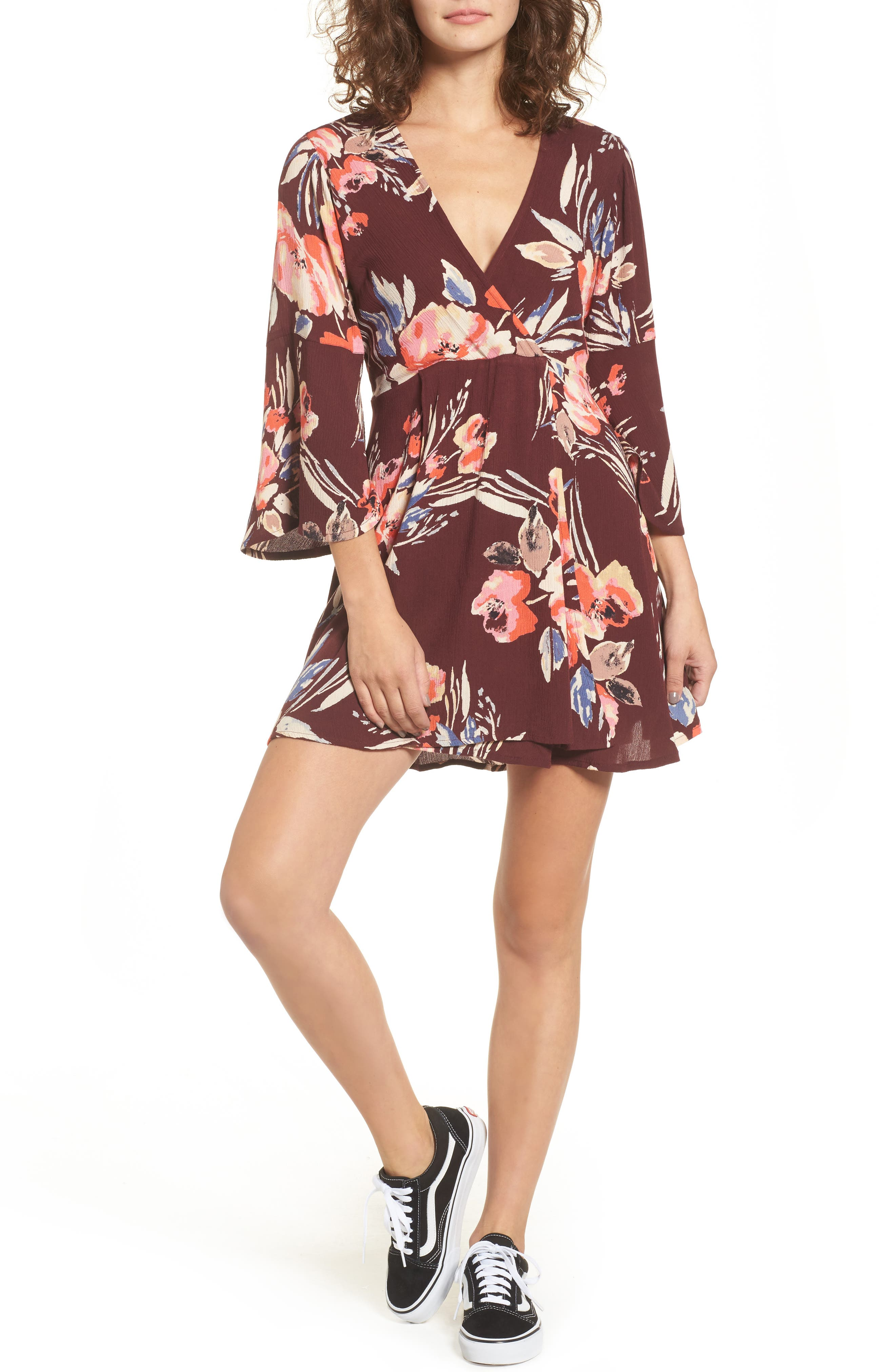 Billabong Divine Floral Print Dress