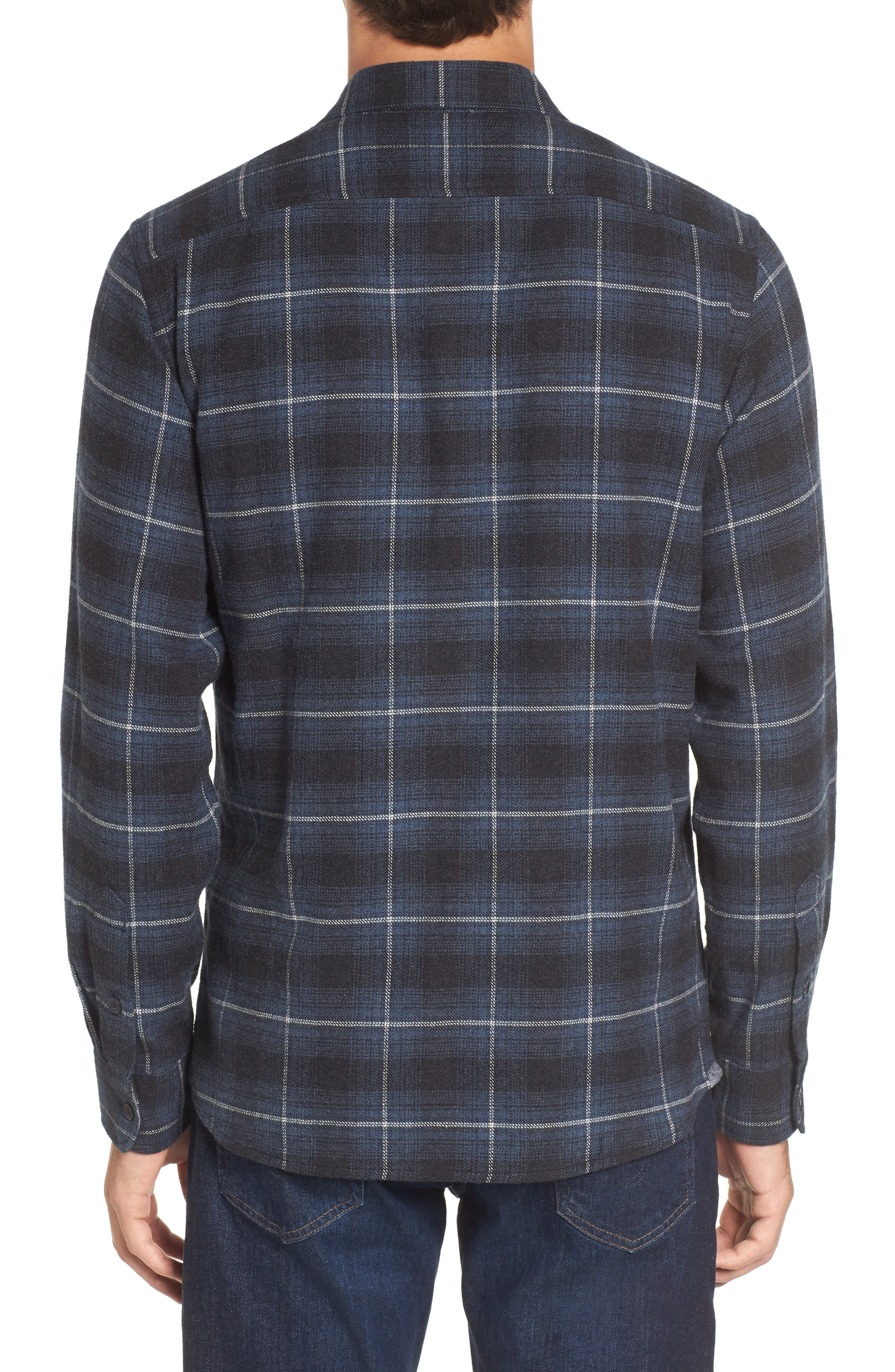 Clarke Heritage Flannel Shirt,                             Alternate thumbnail 2, color,                             Blue Charcoal