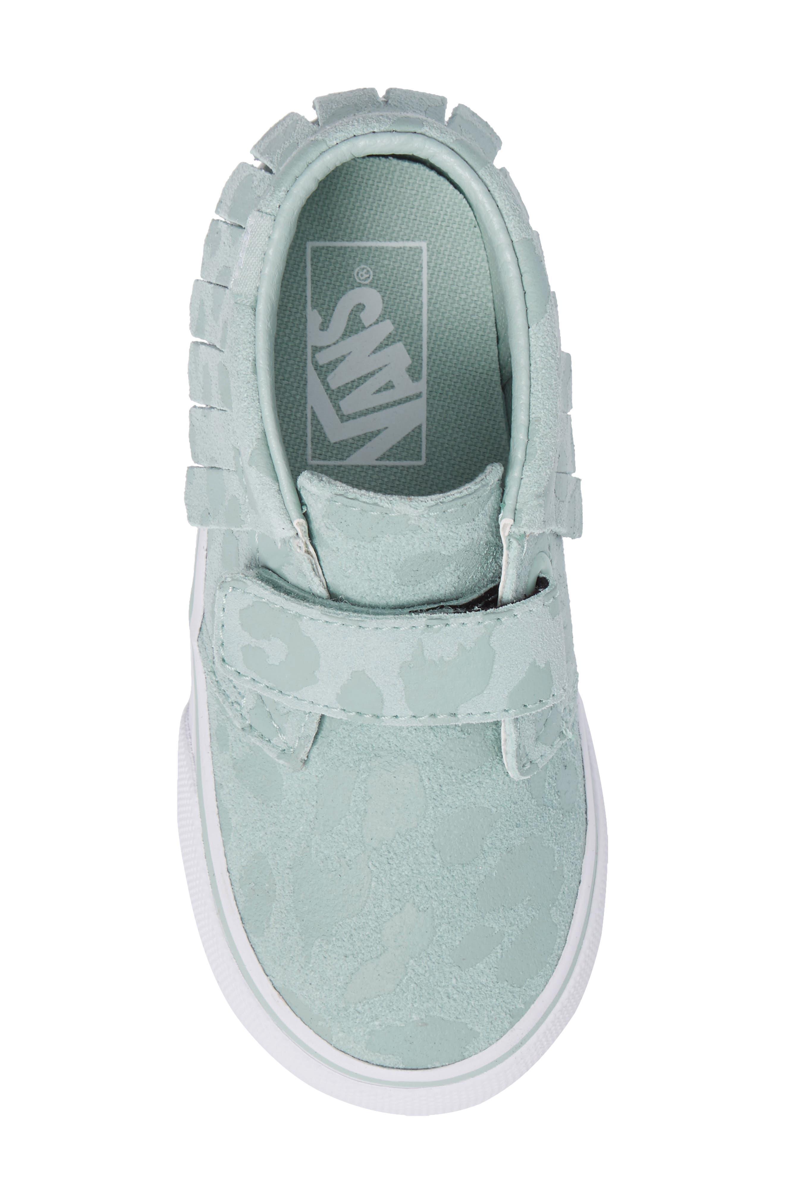 Chukka V Moc Sneaker,                             Alternate thumbnail 5, color,                             Harbor Gray Leopard Suede