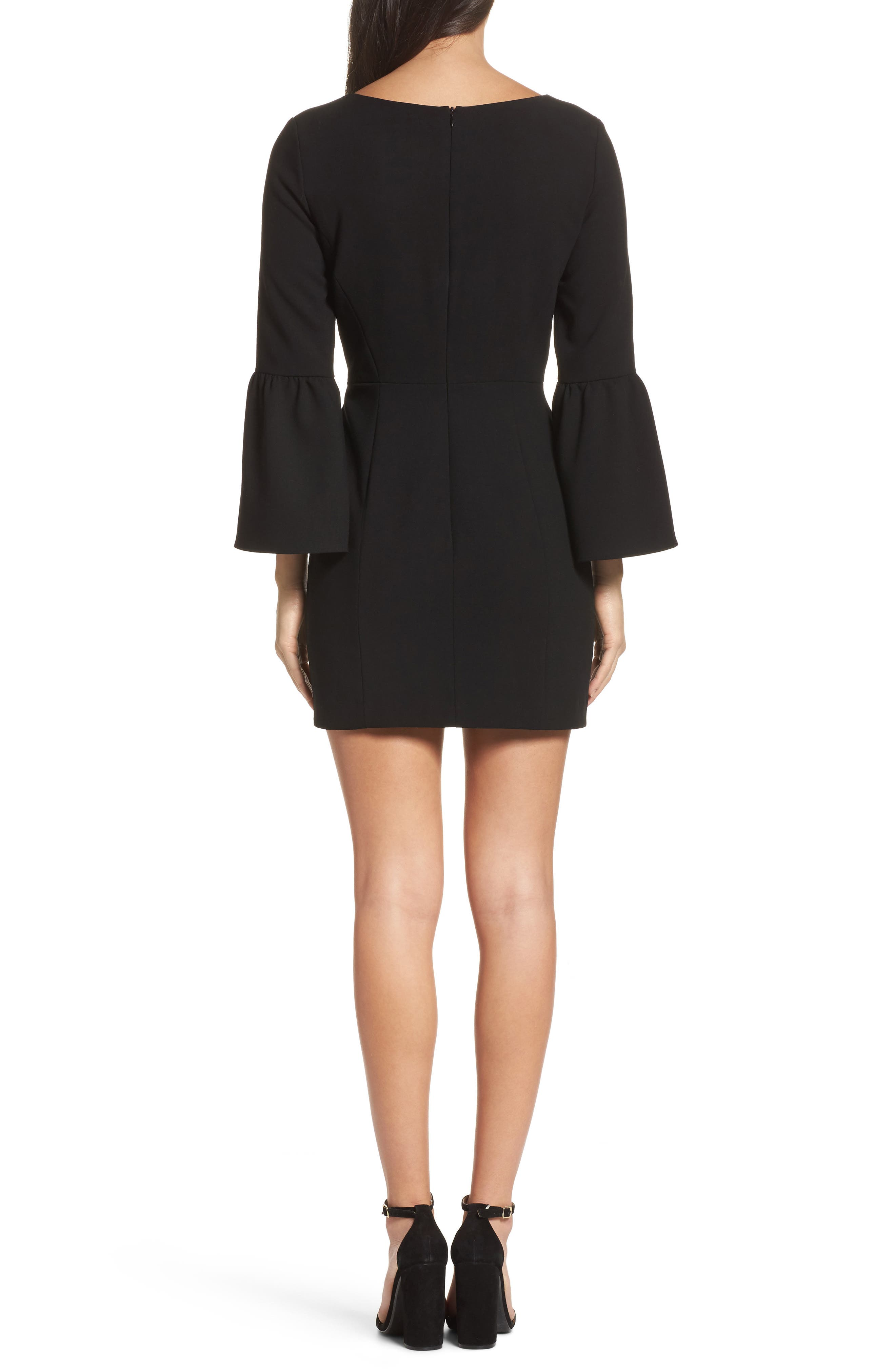 Alternate Image 2  - French Connection Whisper Ruth Bell Sleeve Sheath Dress