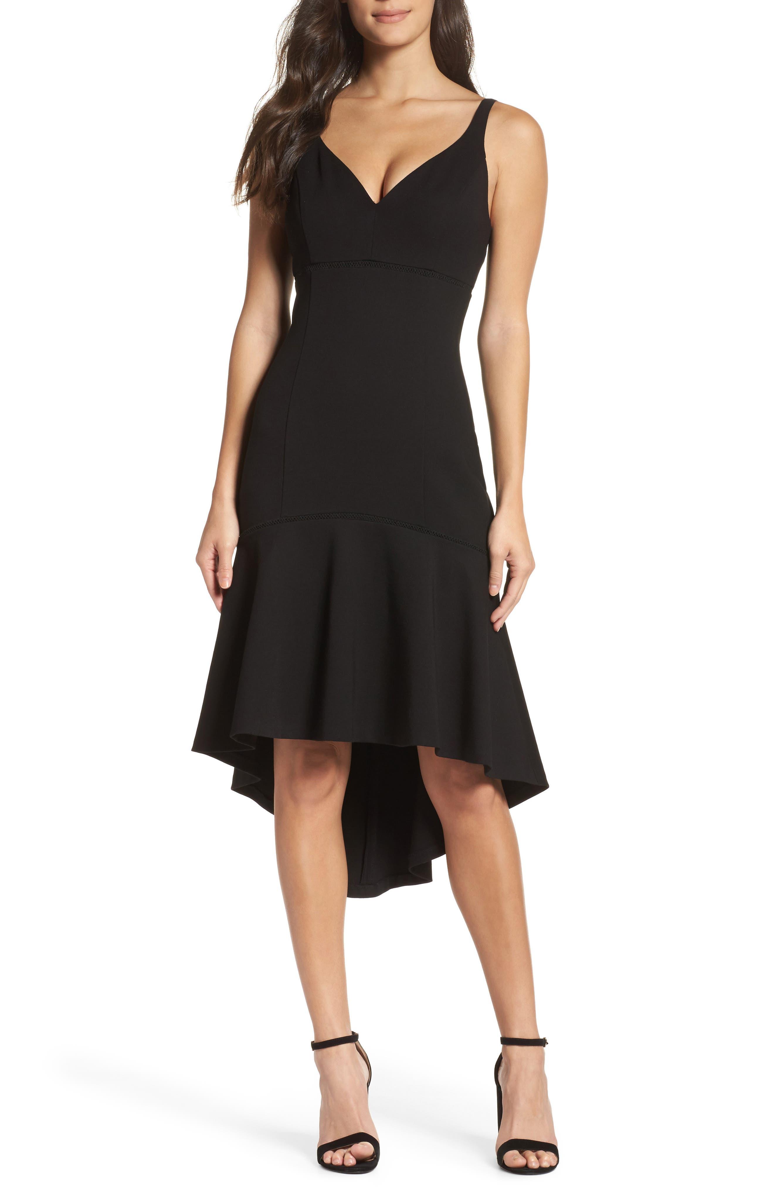 Izabella Midi Dress,                         Main,                         color, Black