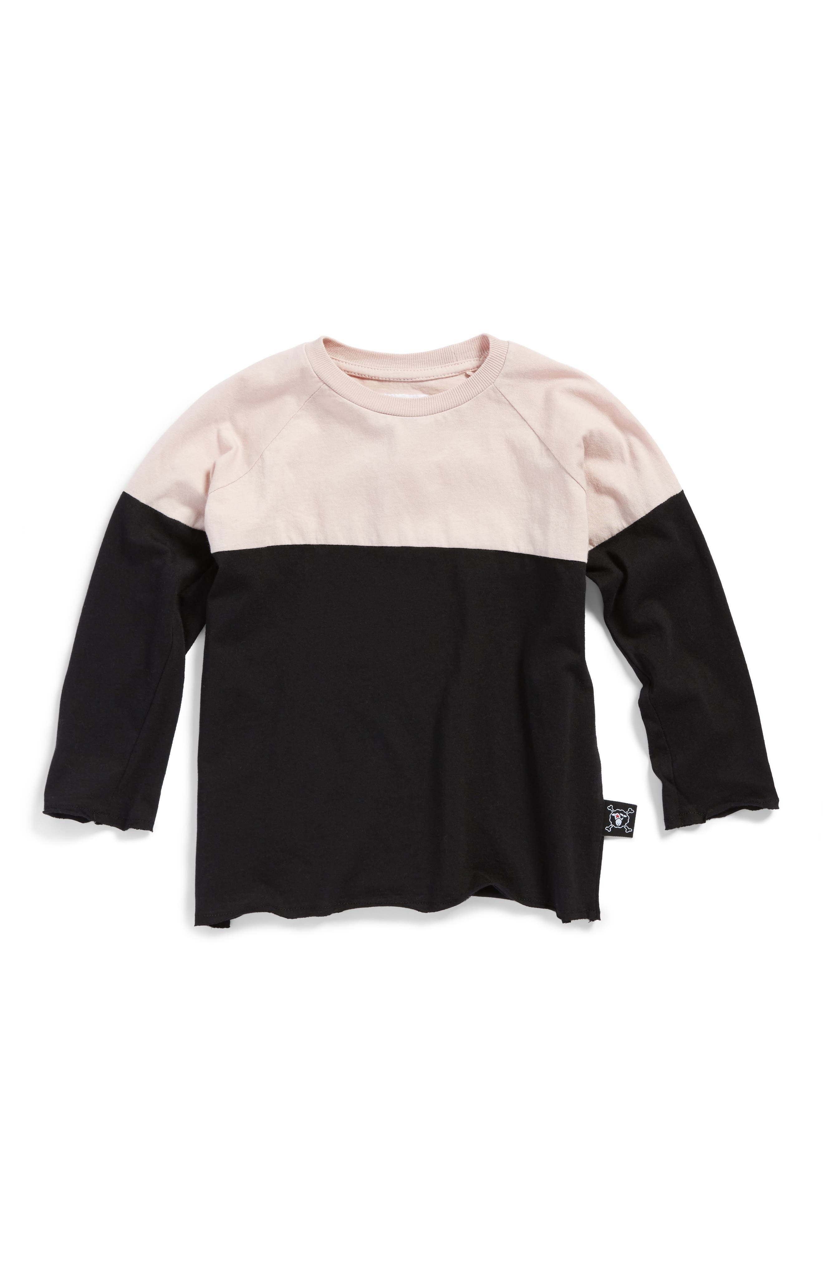 Main Image - NUNUNU Color Block Shirt (Toddler Girls & Little Girls)