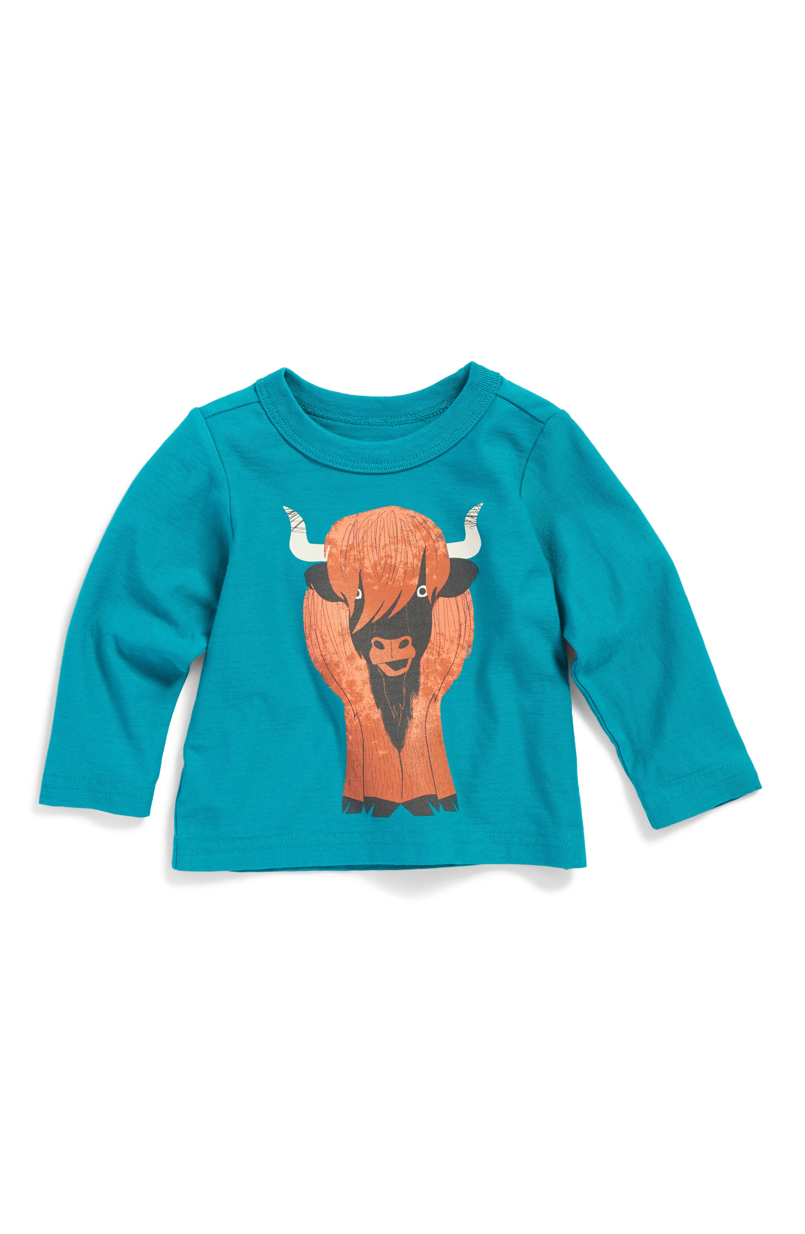 Heeland Coo Graphic T-Shirt,                         Main,                         color, Tempo Teal