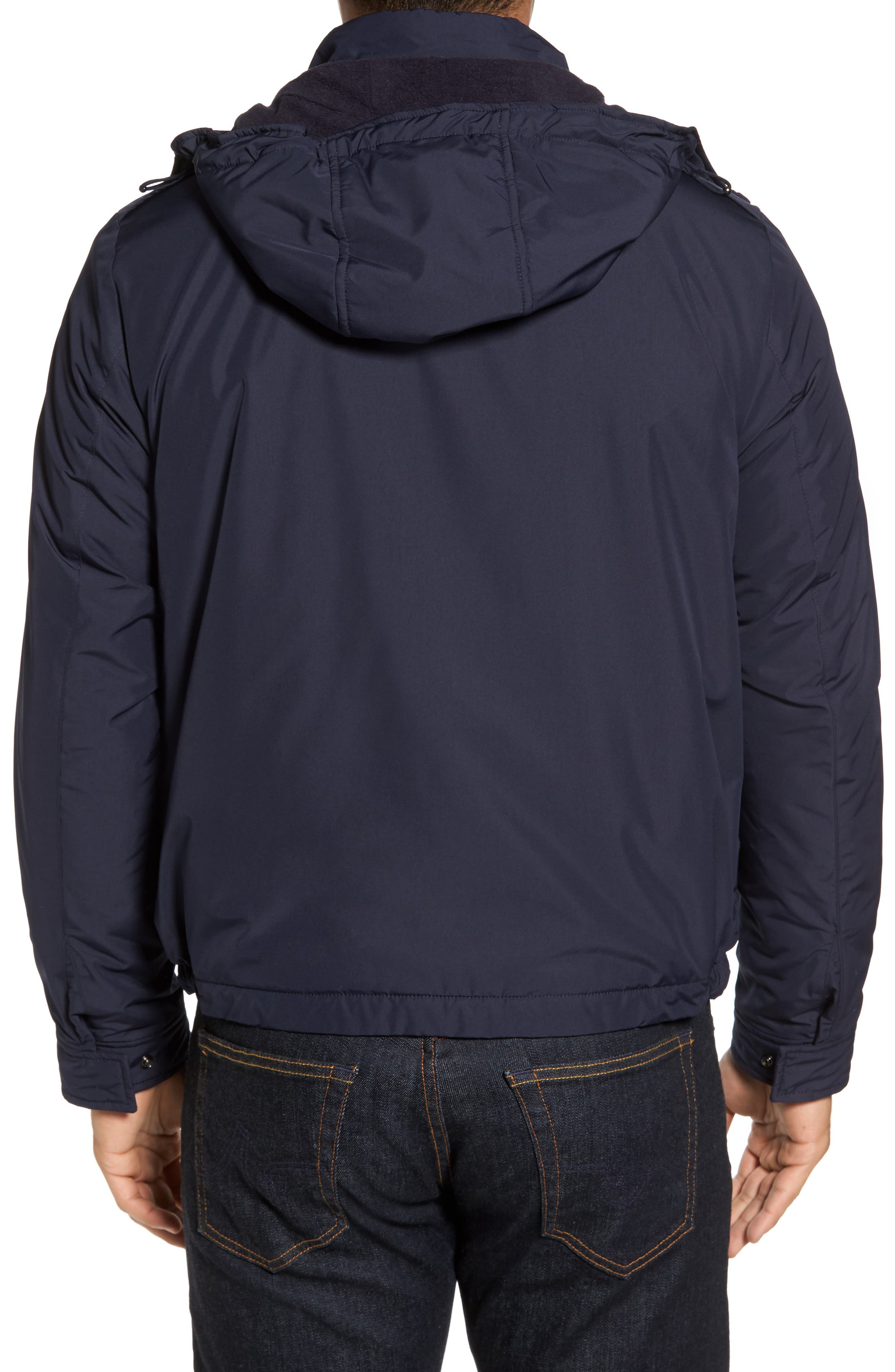 Alternate Image 2  - Paul & Shark Fleece Lined Hooded Jacket