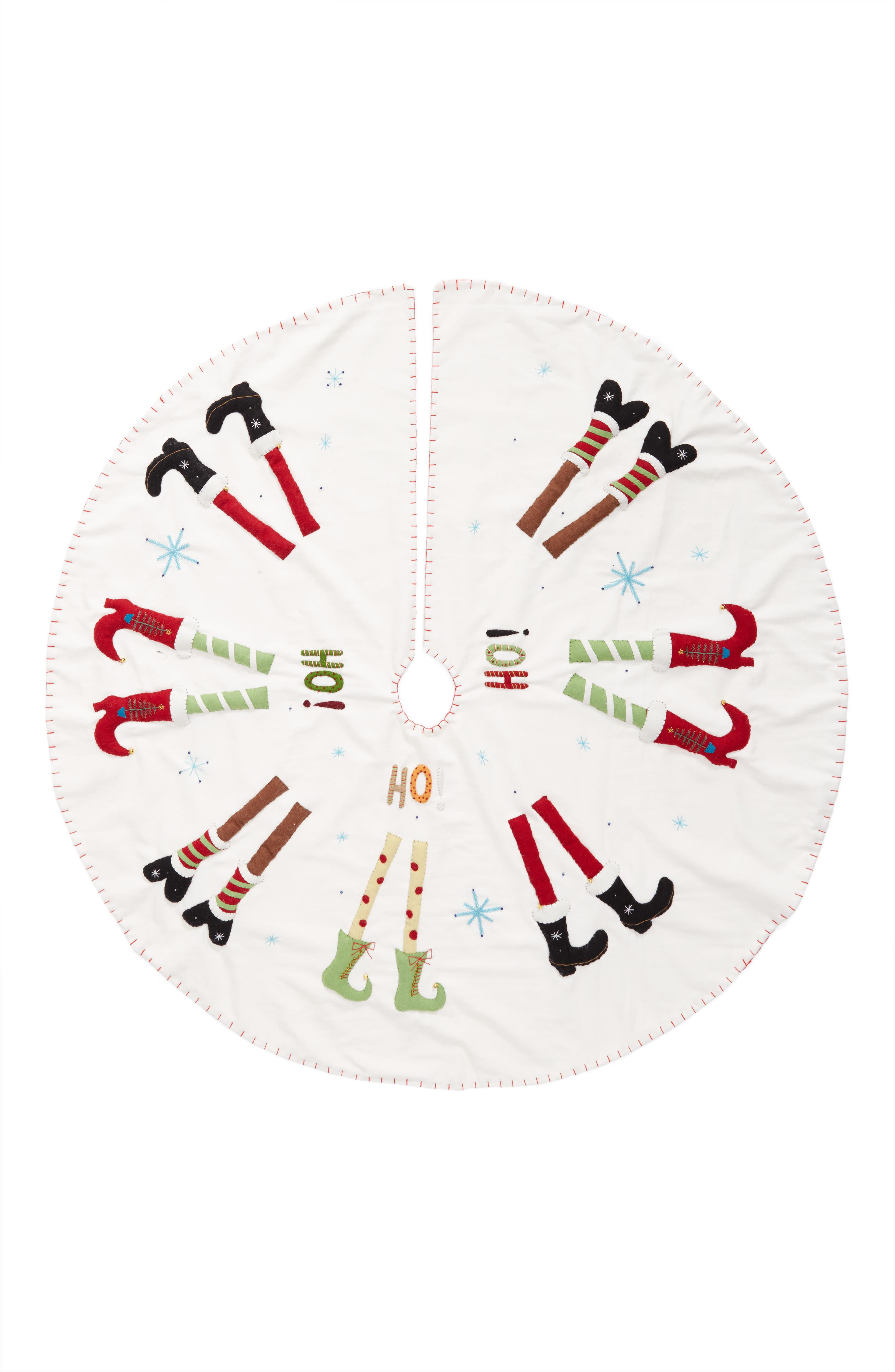 New World Arts Cute Shoes Christmas Tree Skirt