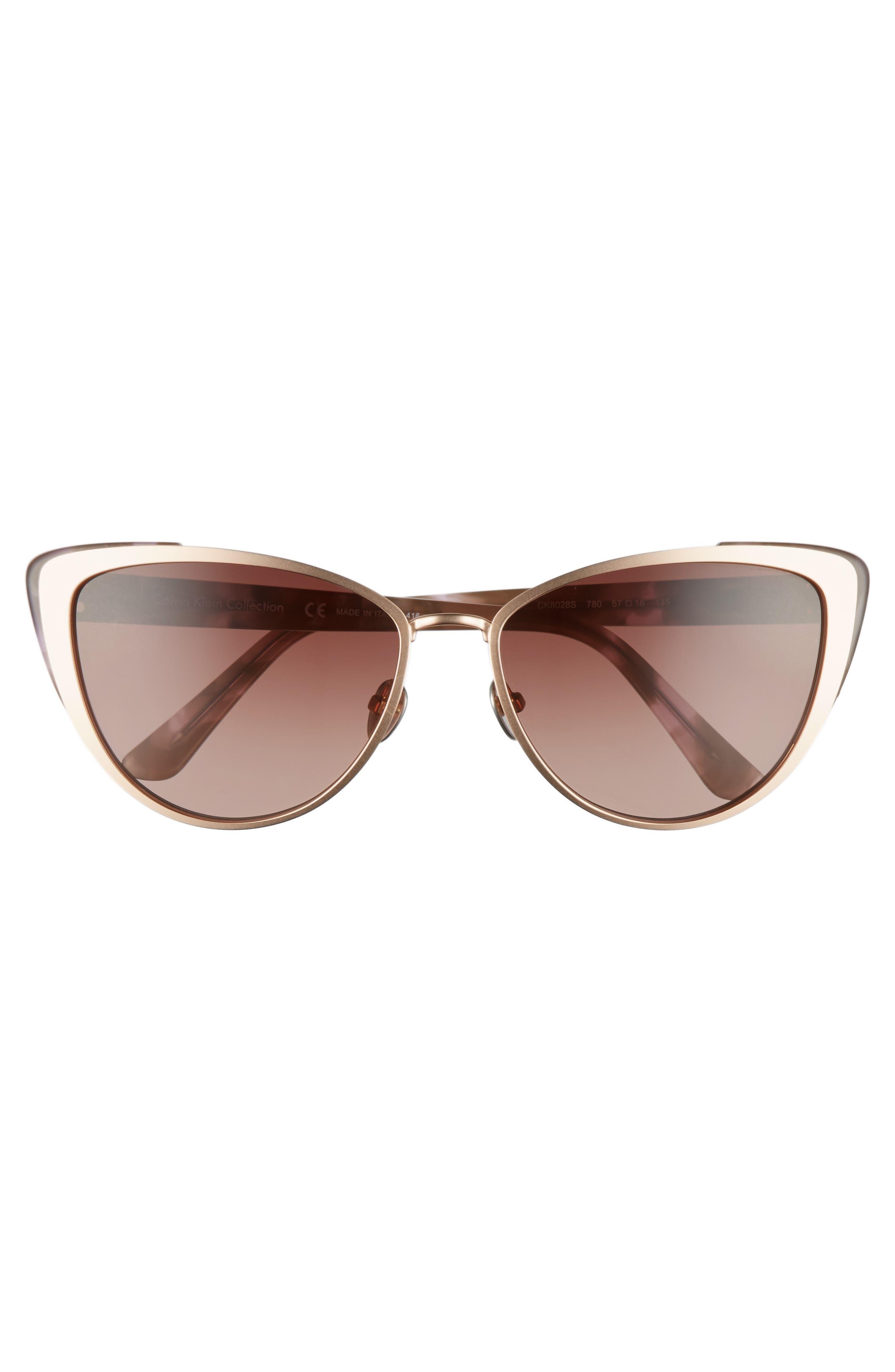 Alternate Image 3  - CALVIN KLEIN 57mm Cat Eye Sunglasses