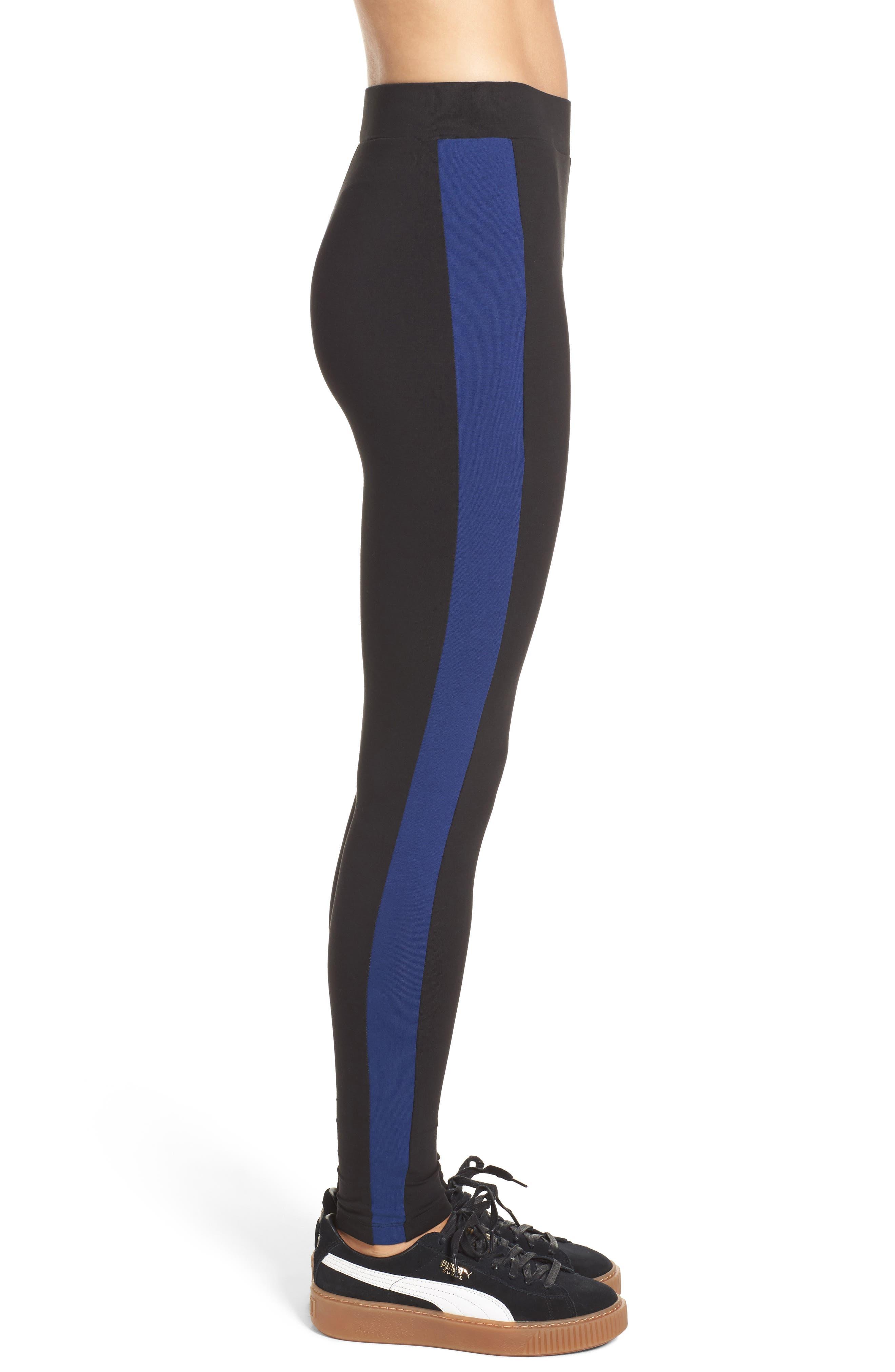 Archive Logo Leggings,                             Alternate thumbnail 3, color,                             Cotton Black