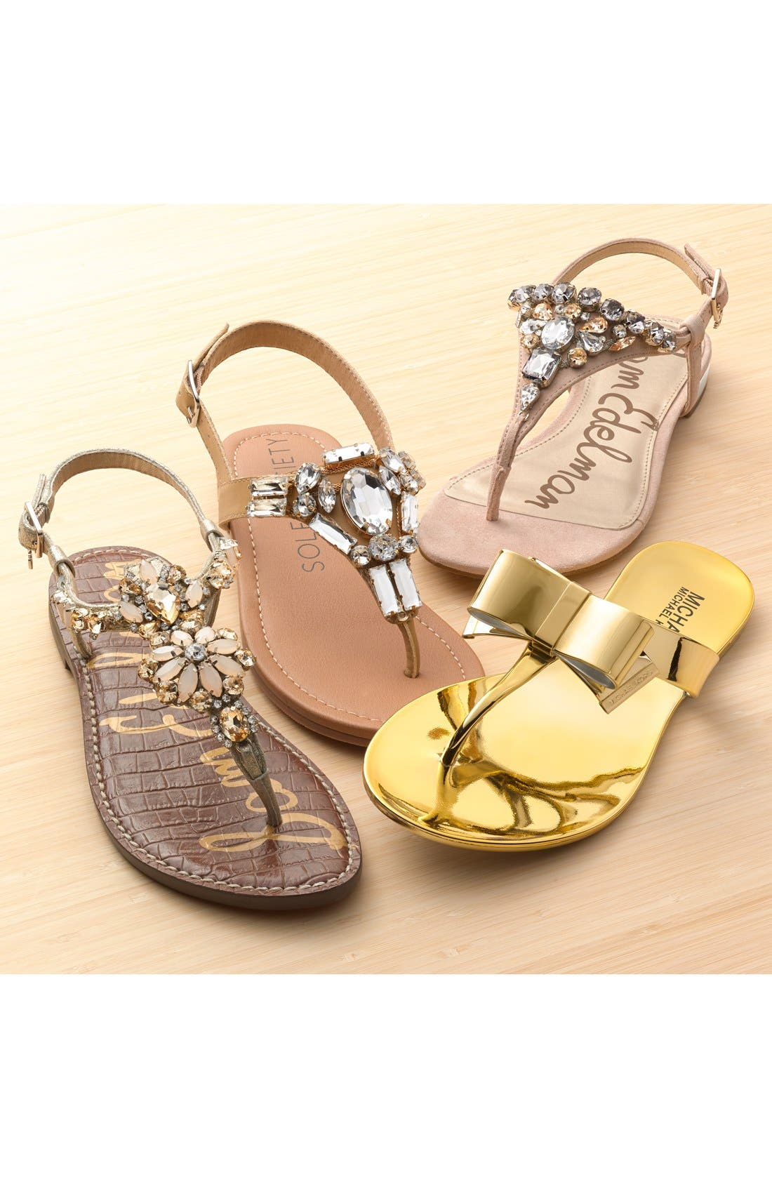Alternate Image 5  - Sole Society 'Angelin' Crystal Sandal (Women)