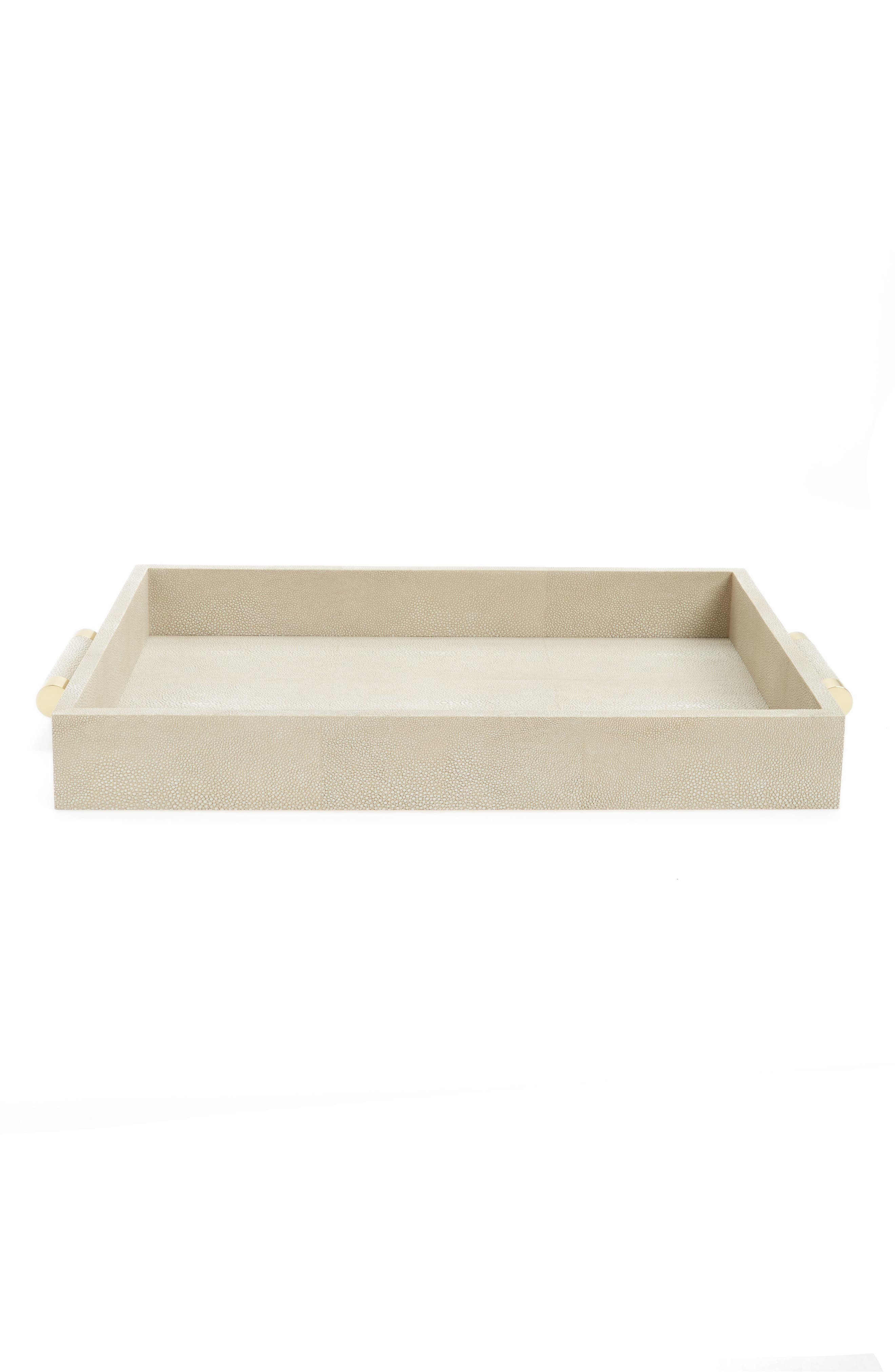 Alternate Image 1 Selected - AERIN Shagreen Serving Tray